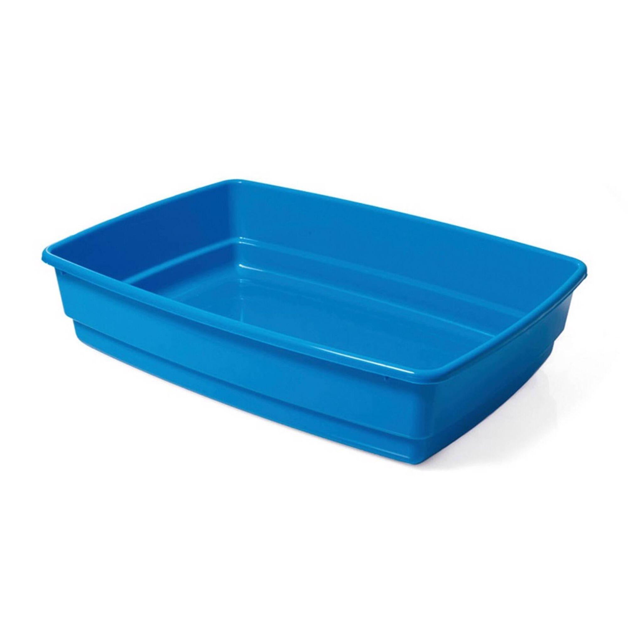 Tabuleiro de Areia para Gato Azul 54x40x14 cm