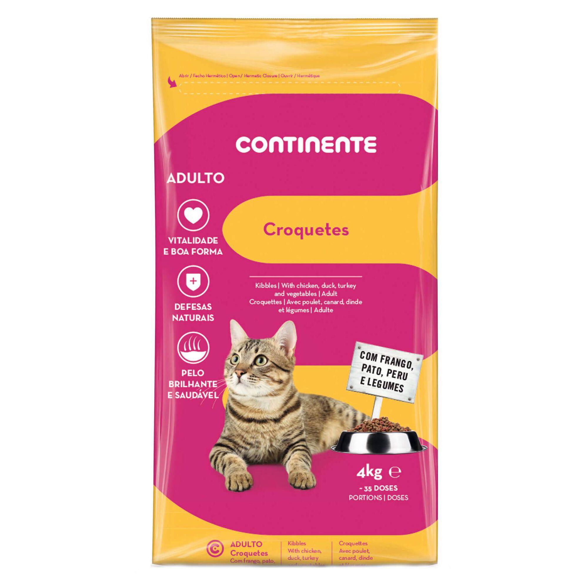 Ração para Gato Adulto Croquetes Frango, Pato, Peru e Legumes