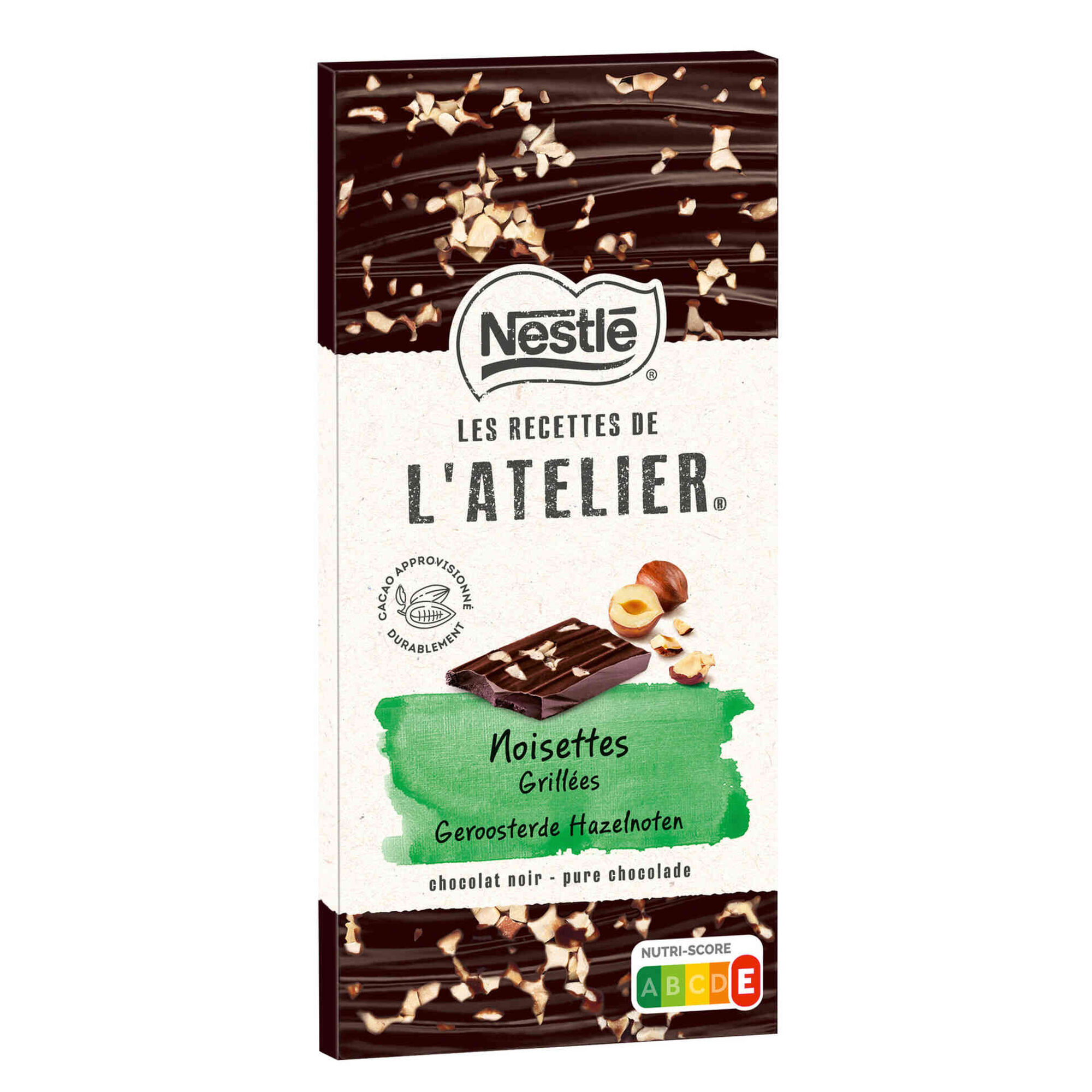 Tablete de Chocolate Negro com Avelã Le Recettes de L'Atelier