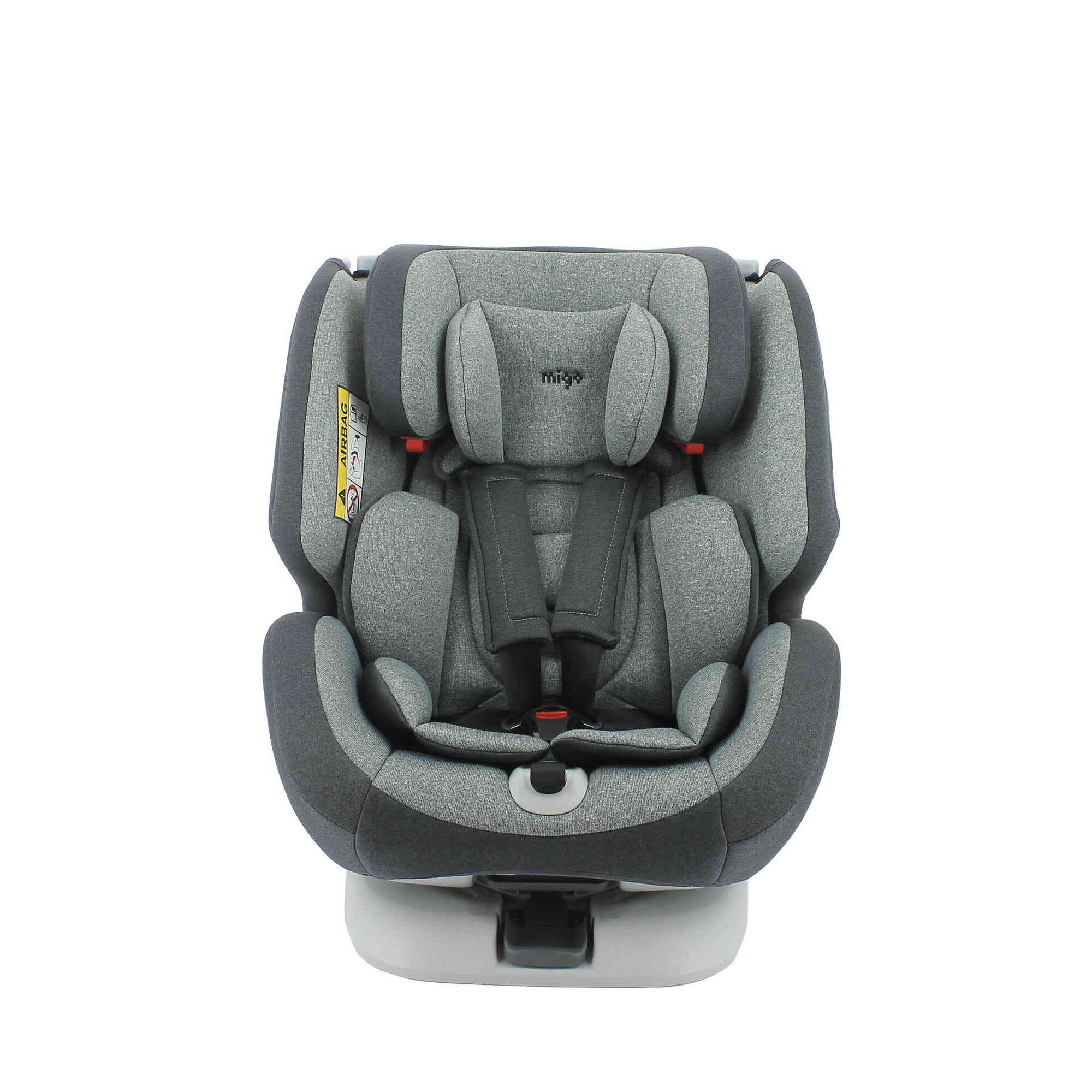 Cadeira Auto Grupo 0+/1/2/3 Isofix Rotativa 360° Cinza One
