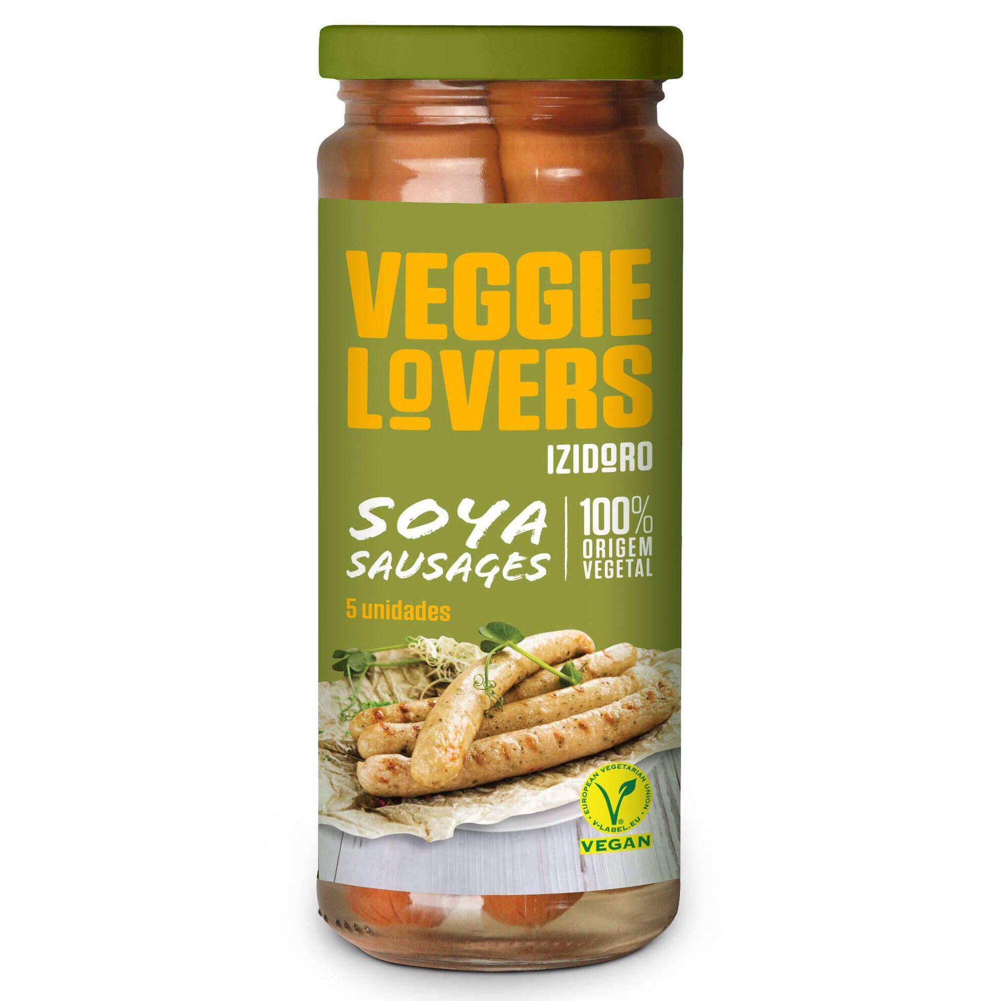 Salsichas de Soja Frasco 5 un