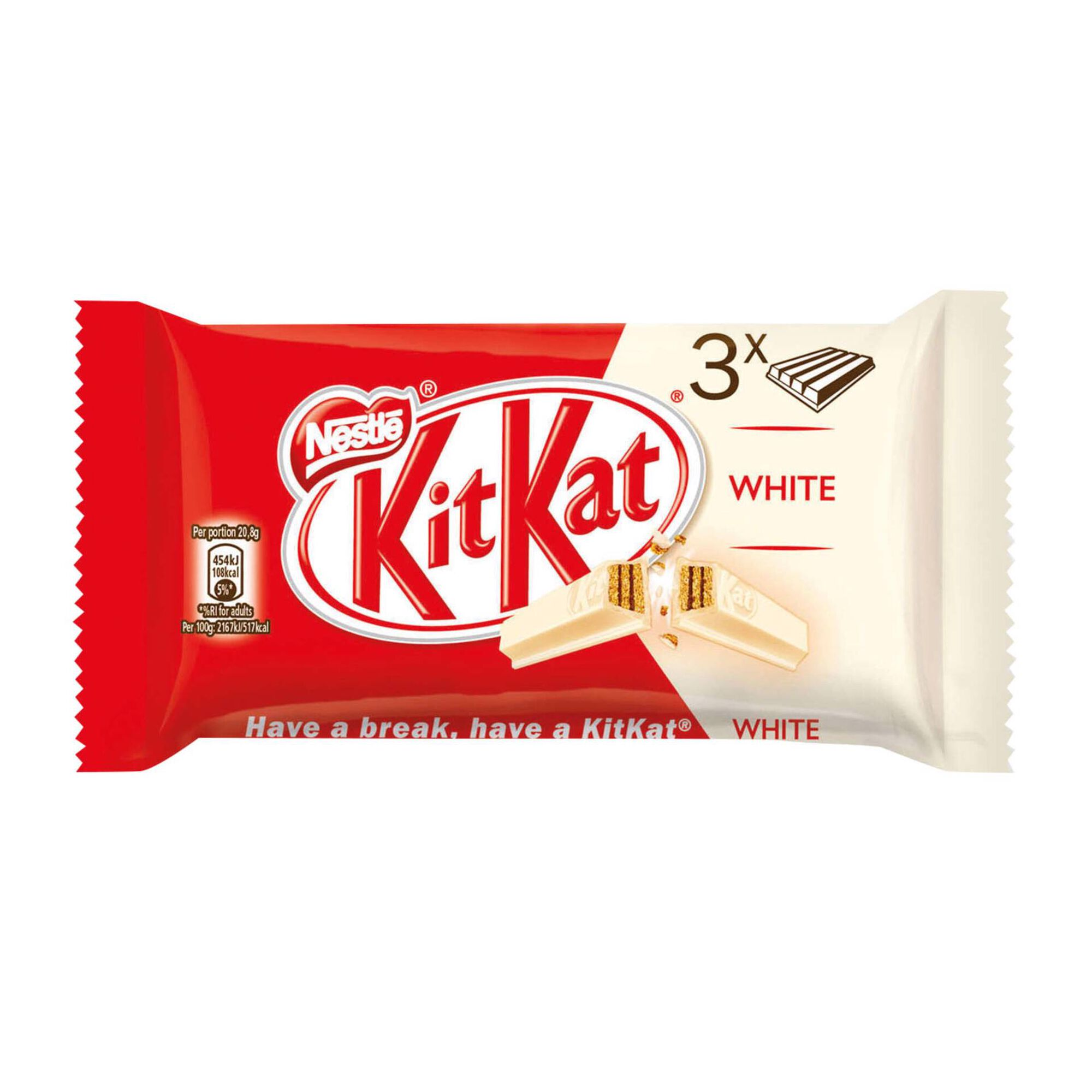 Snack de Chocolate White Kit Kat