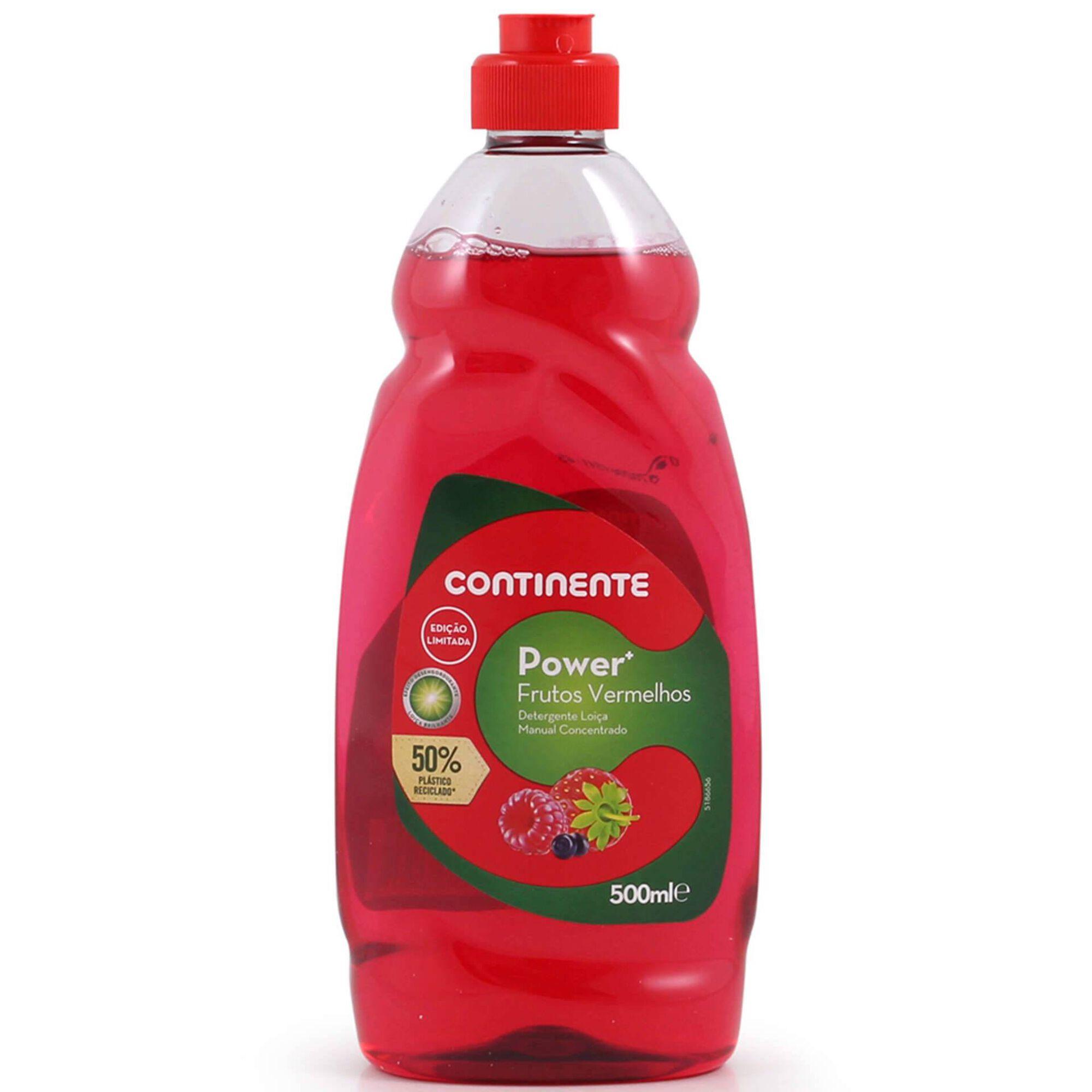 Detergente Manual Loiça Concentrado Power+ Frutos Vermelhos