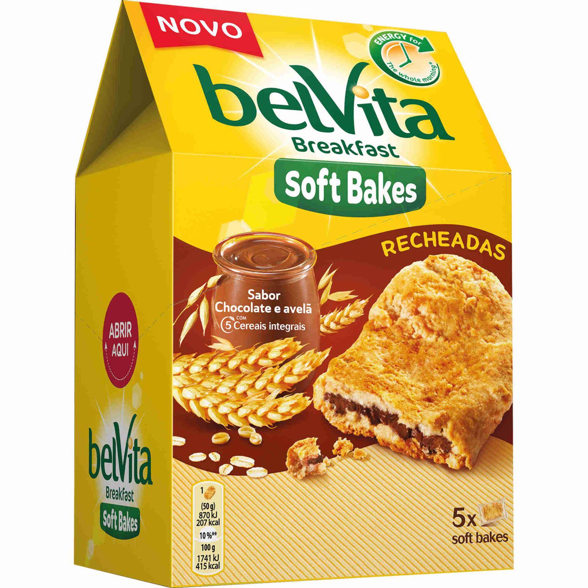 Bolachas Soft Bakes Recheadas de Chocolate e Avelã