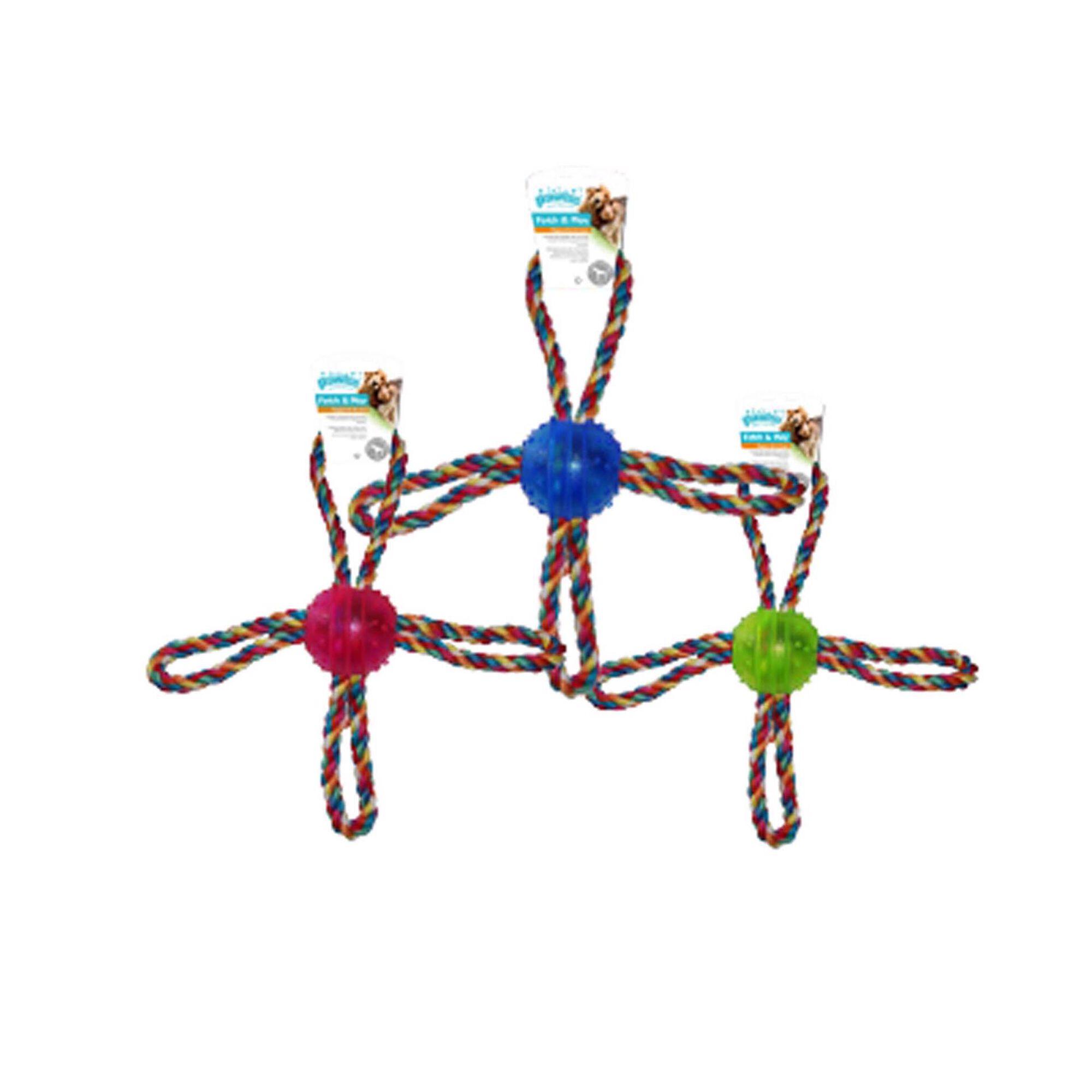 Bola para Cão TPR com Cordas 26 cm