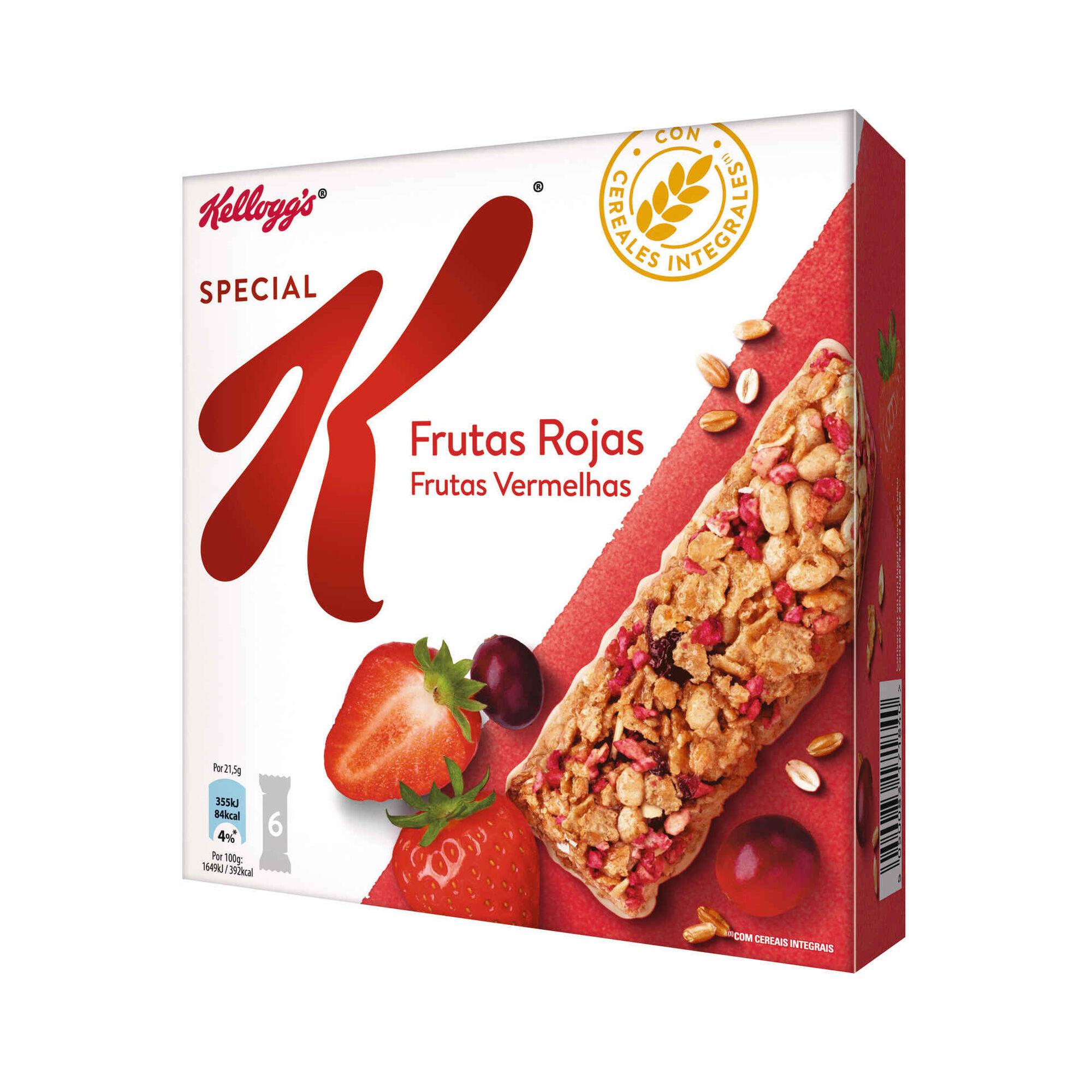 Barras de Cereais Frutos Vermelhos Special K