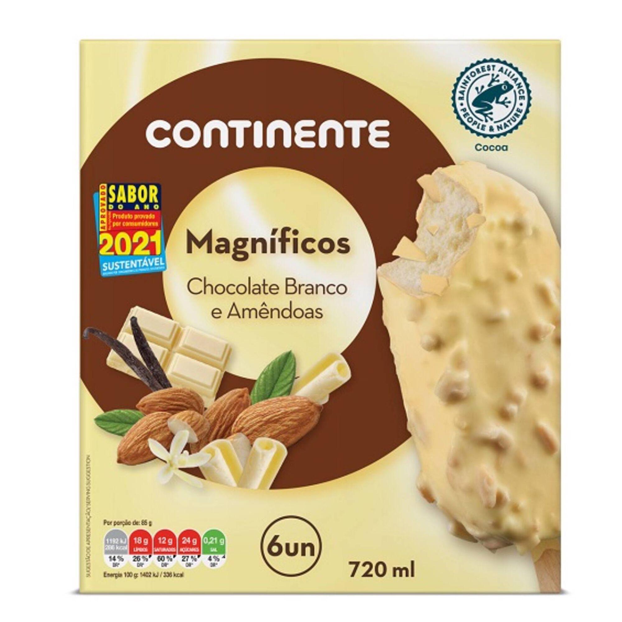 Gelado Magnífico Chocolate Branco com Amêndoa
