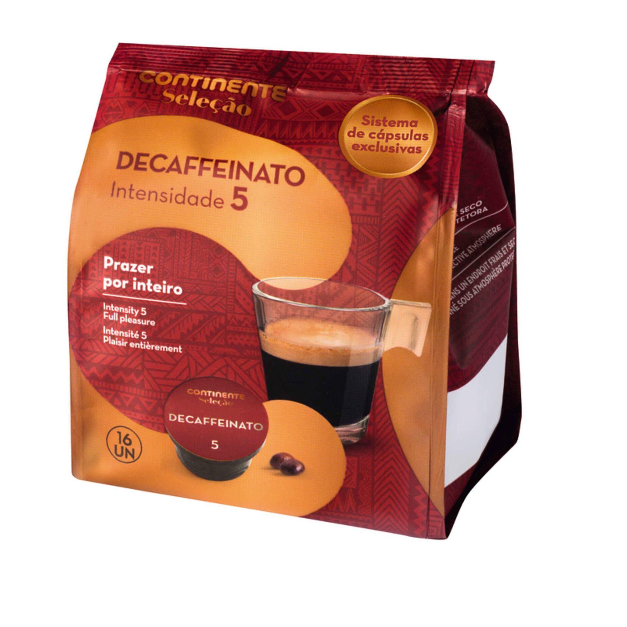 Cápsulas de Café Decaffeinato Int 5