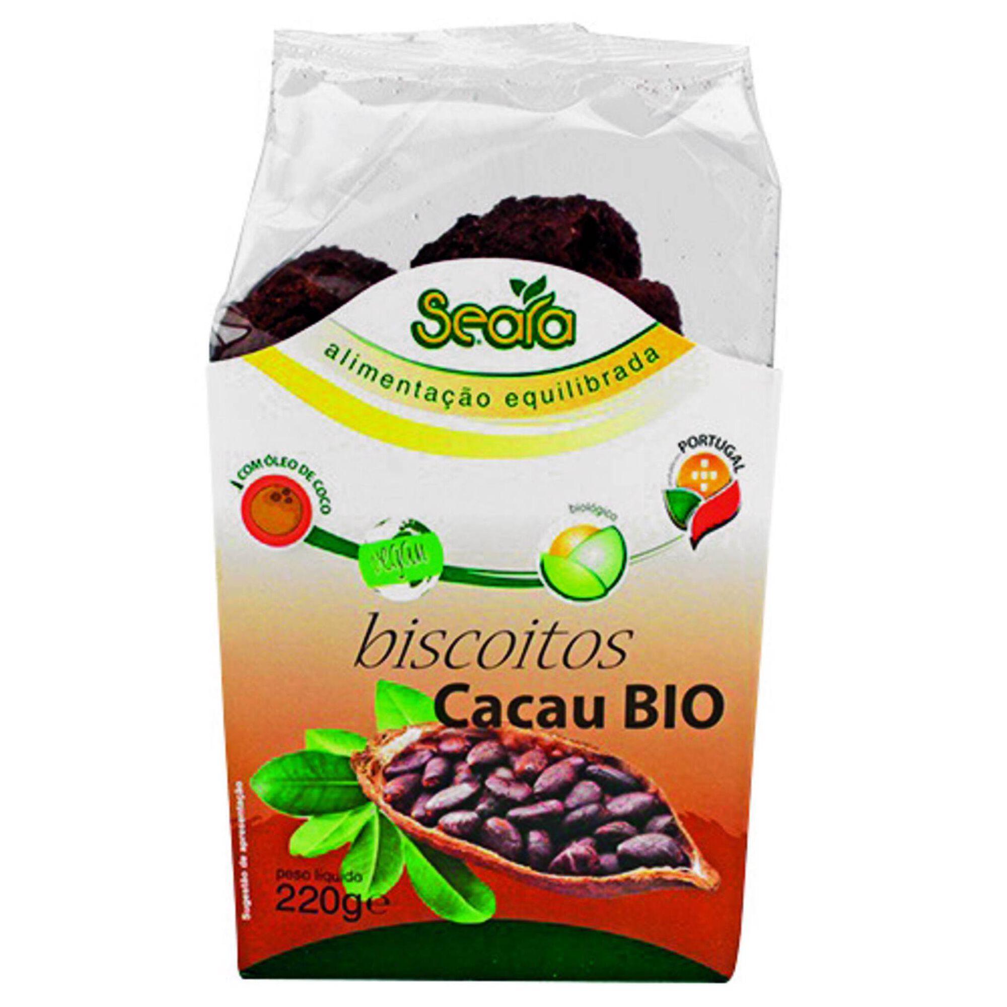 Biscoitos Cacau Biológicos