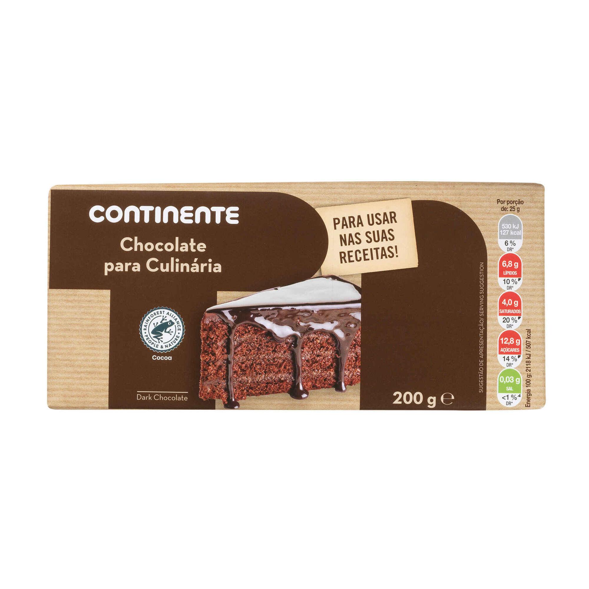 Tablete de Chocolate Culinária 43%