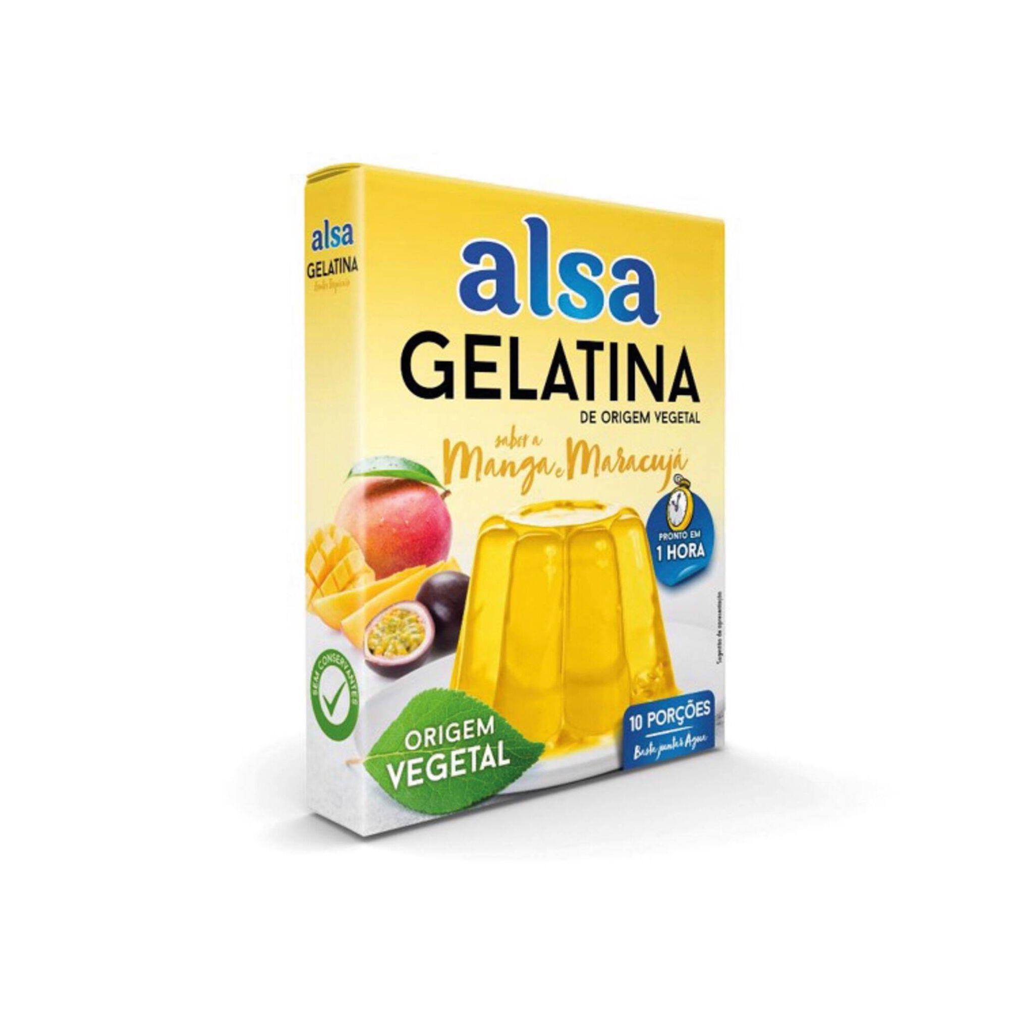 Gelatina em Pó Vegetal de Manga e Maracujá