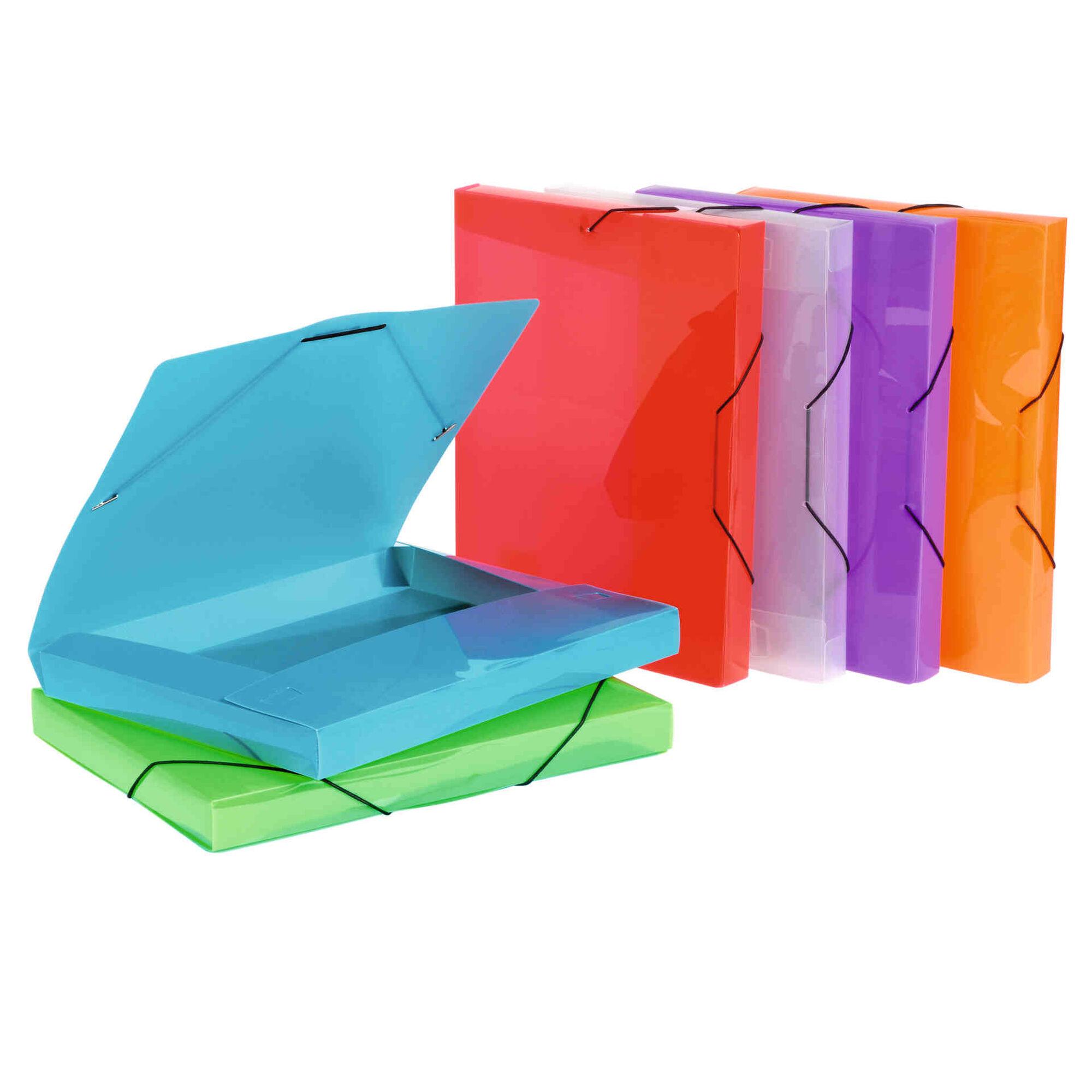Capa com Elástico A4 Lombada Larga (várias cores)