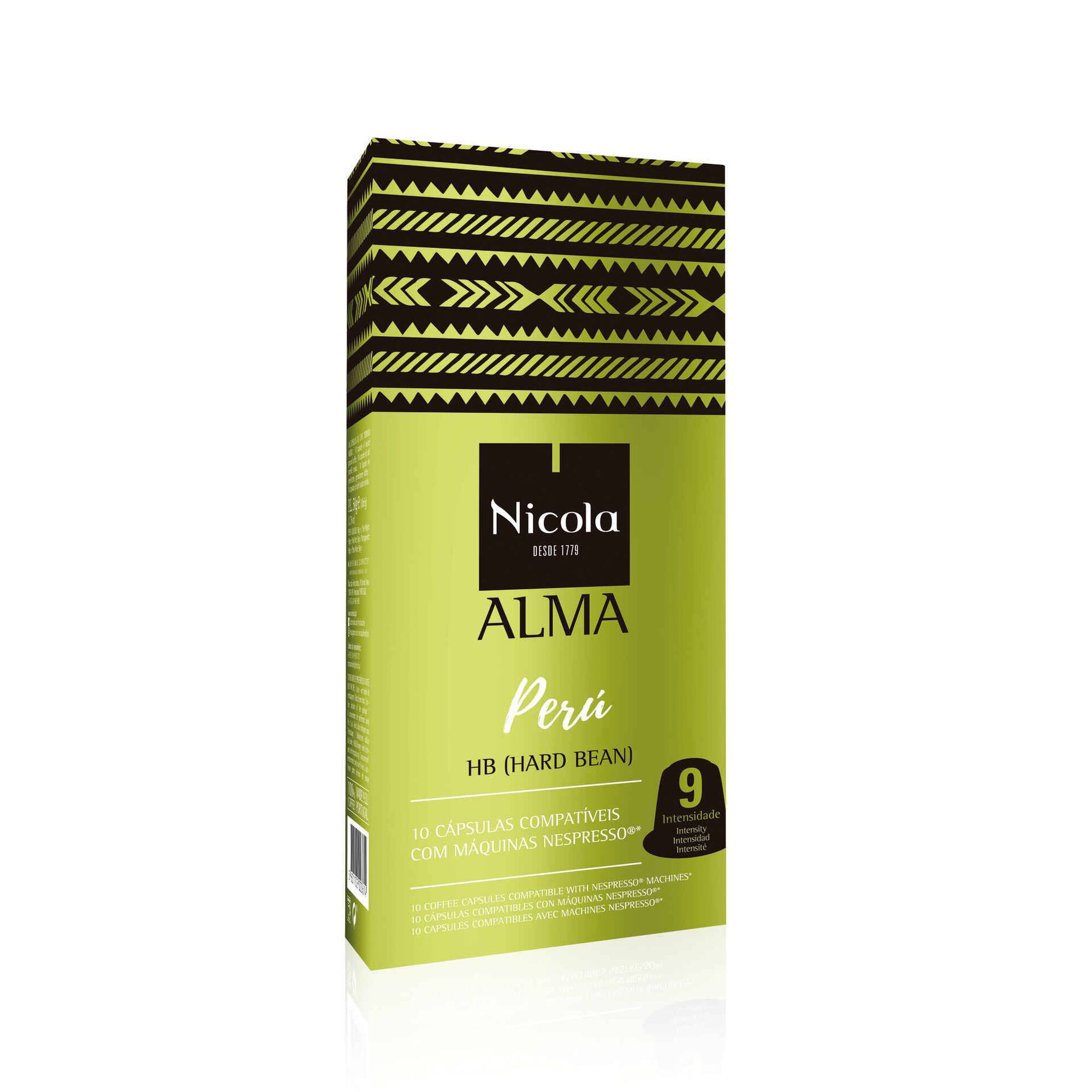 Cápsulas de Café Alma Peru Compatível com Nespresso Int 9