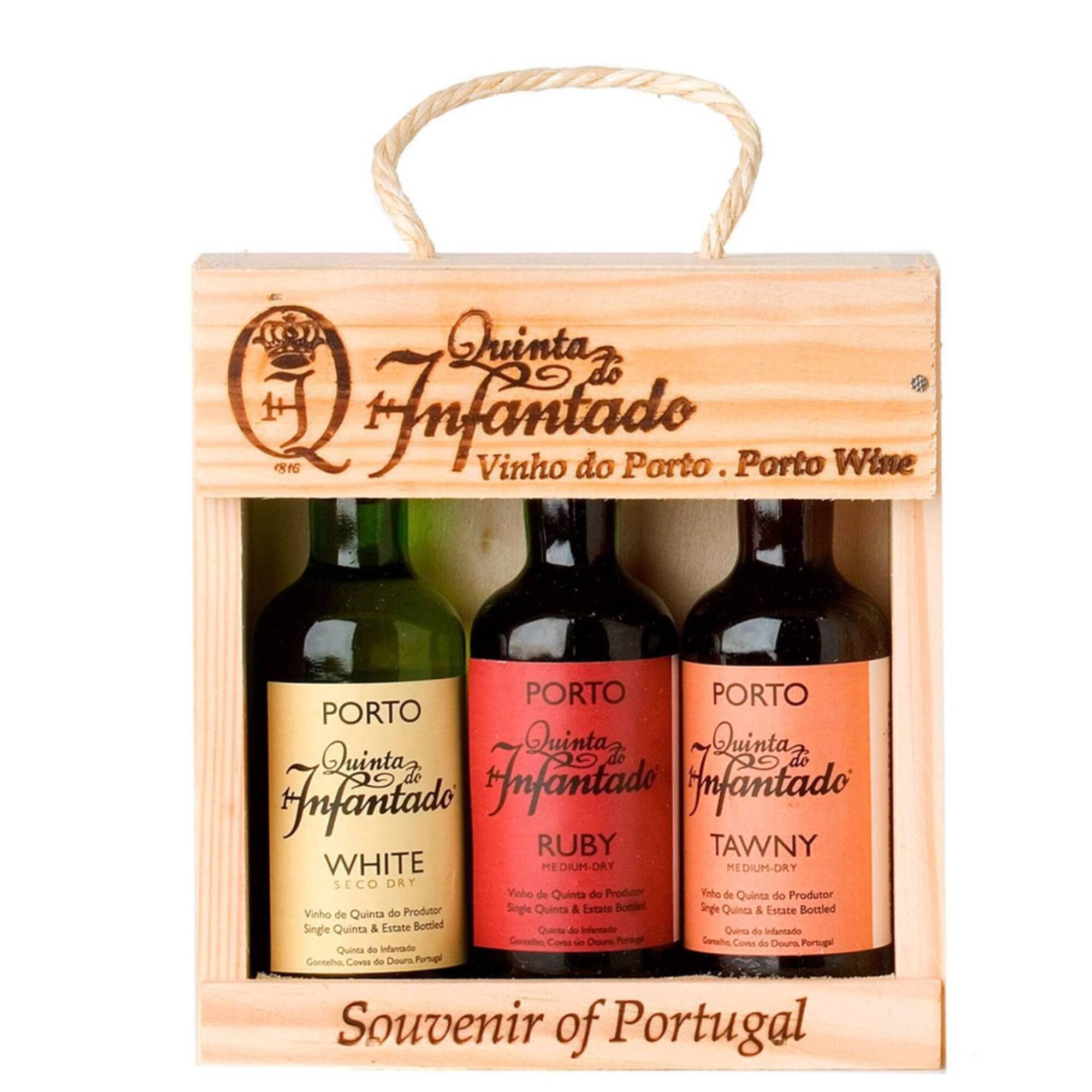 Quinta do Infantado Vinho do Porto Conjunto 3 Miniaturas