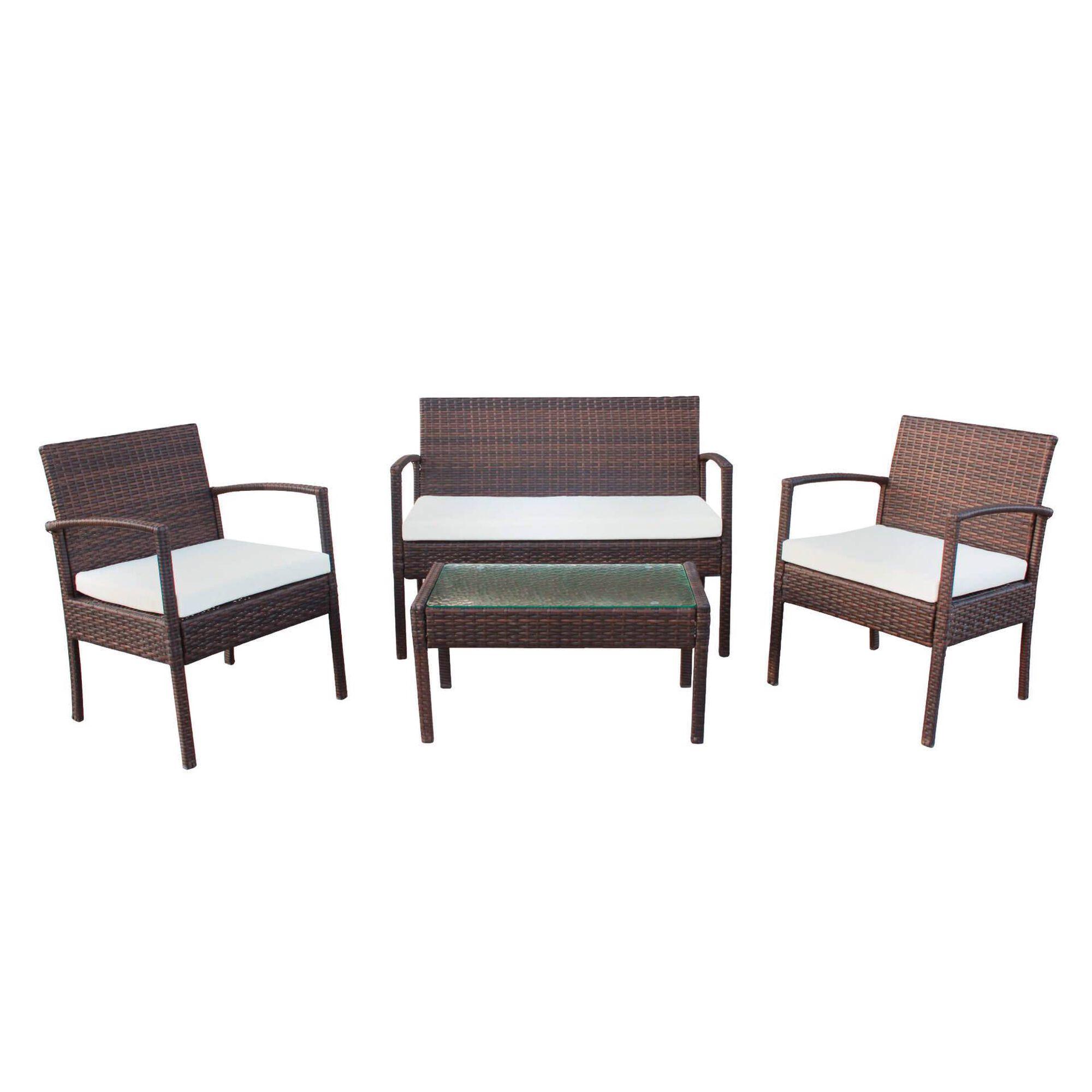 Conjunto de Estar Mesa e 3 Sofás Wicker São Francisco