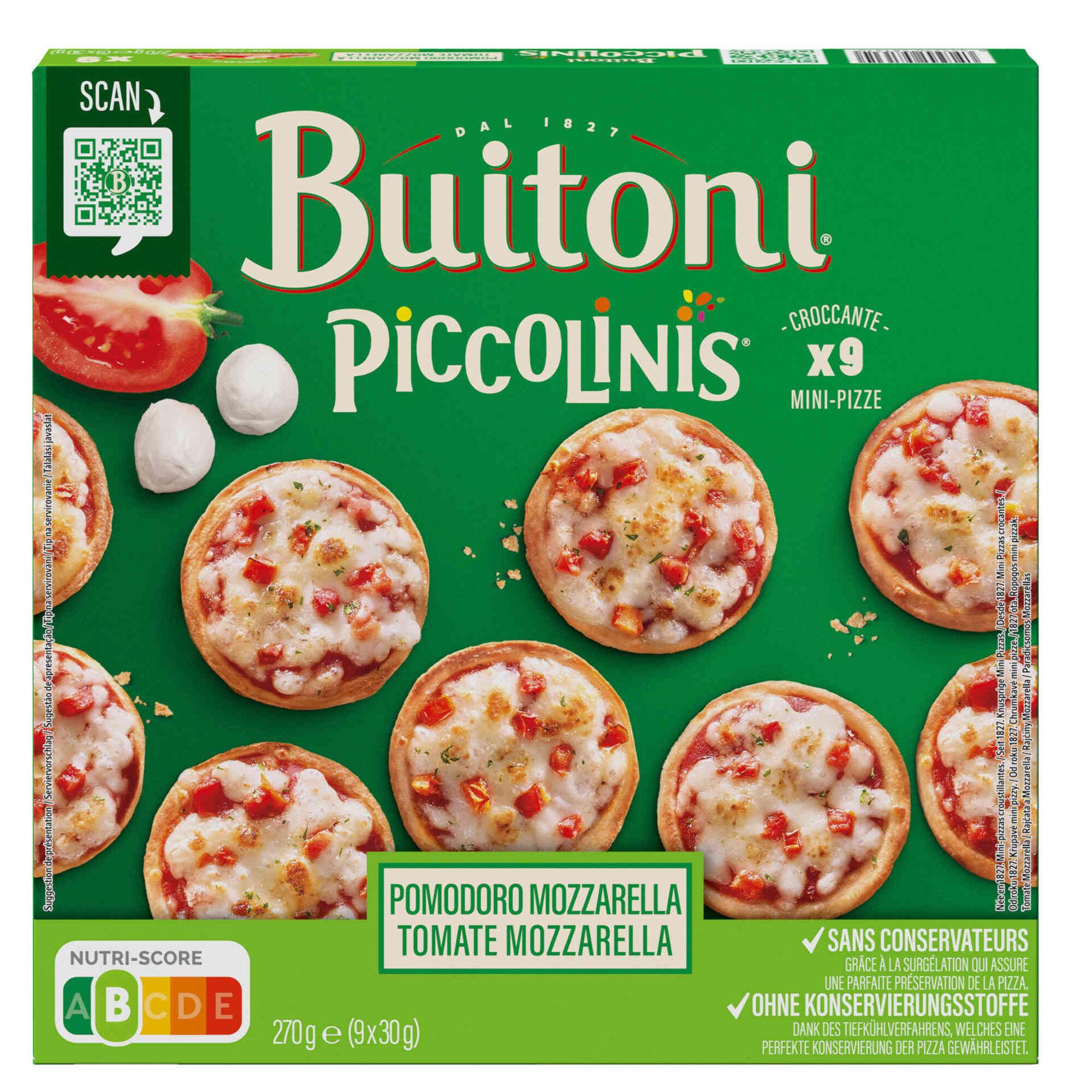 Mini Pizzas Piccolinis de Tomate e Mozzarella