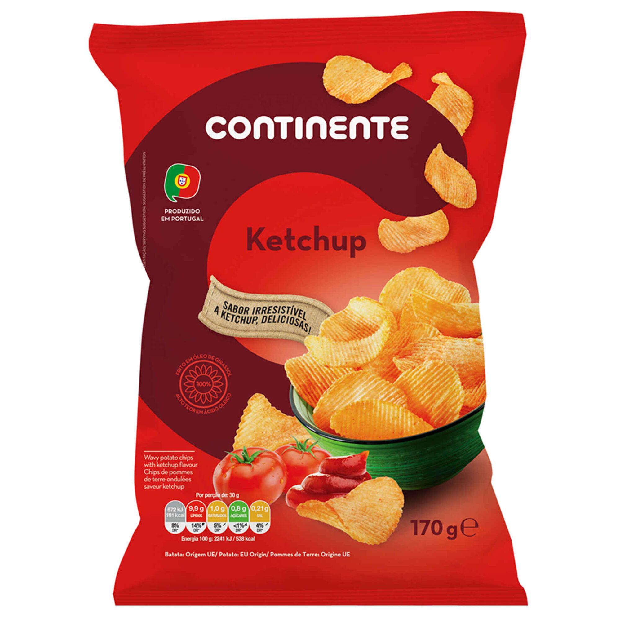 Batata Frita Ondulada Sabor Ketchup