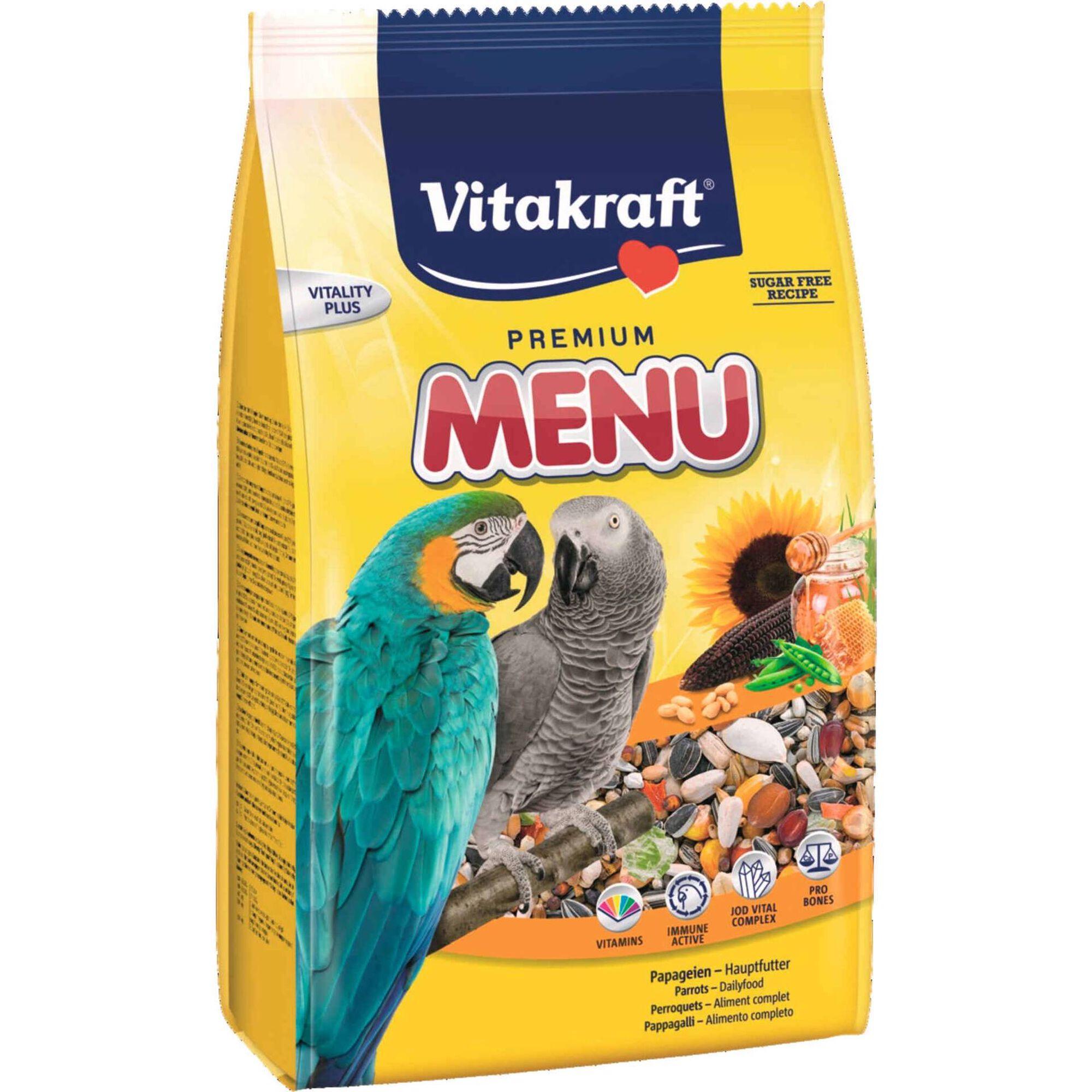 Comida para Papagaio Premium Menu