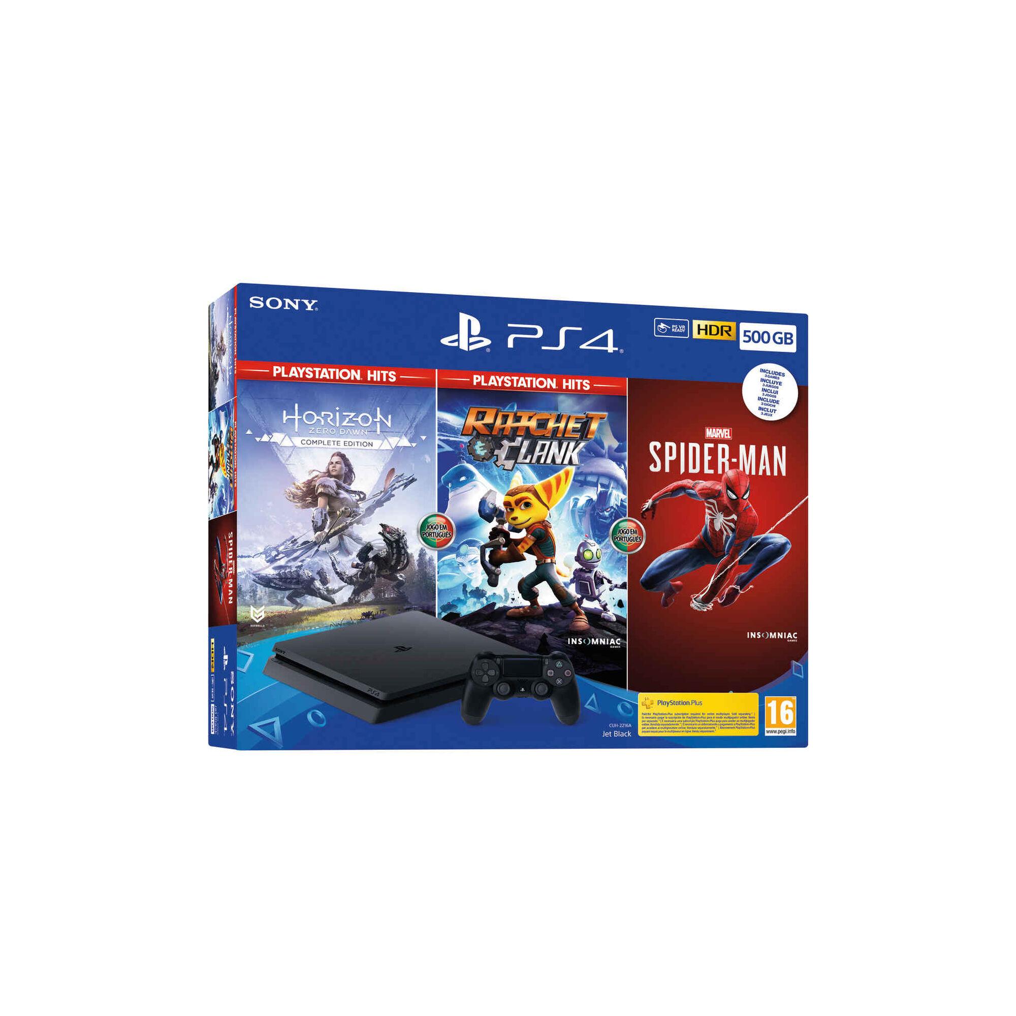 Consola Sony PS4 500GB com 3 Jogos
