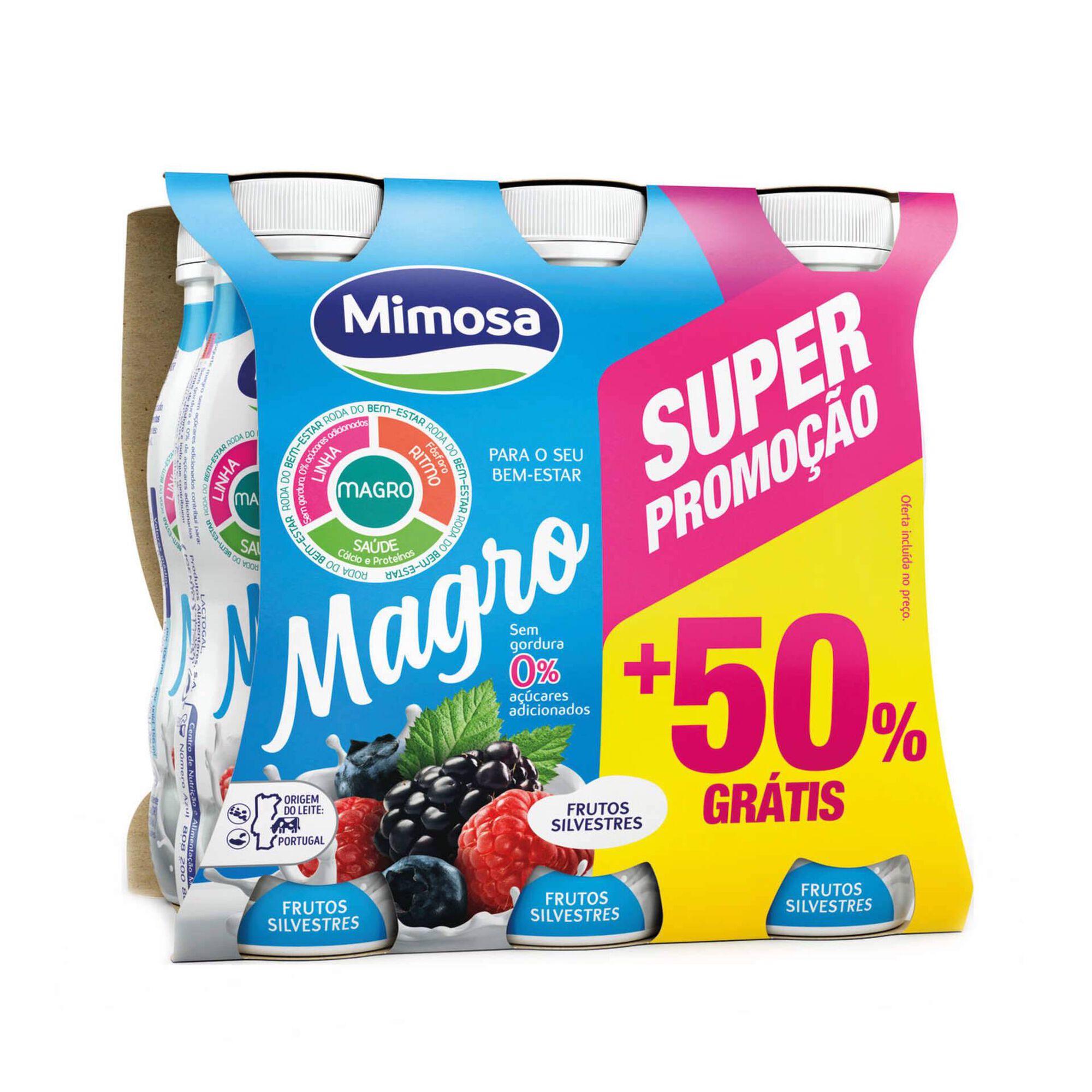 Iogurte Líquido Magro Frutos Silvestres