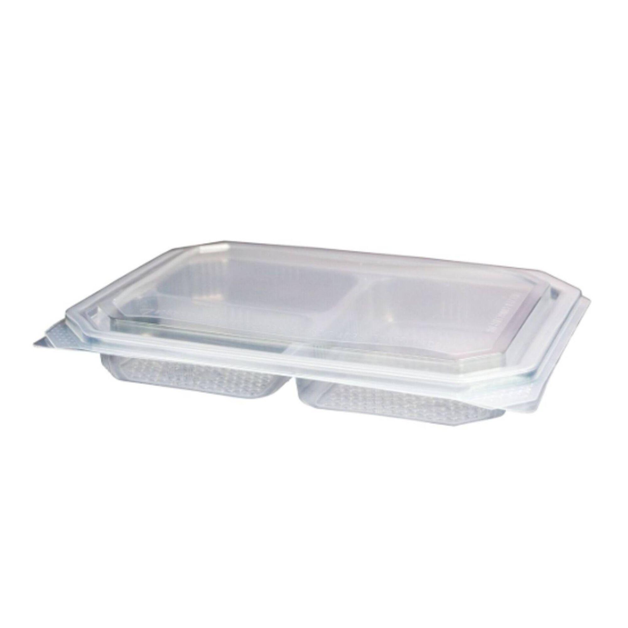 Embalagem Micro-ondas Plástico com Compartimentos Transparente