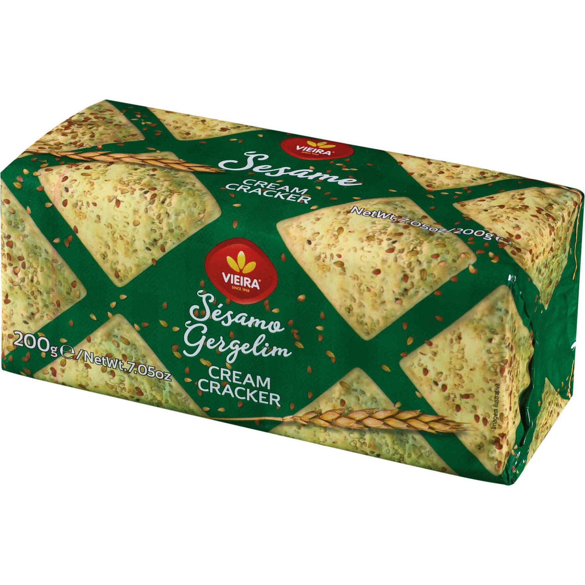 Bolachas Cream Cracker de Sésamo