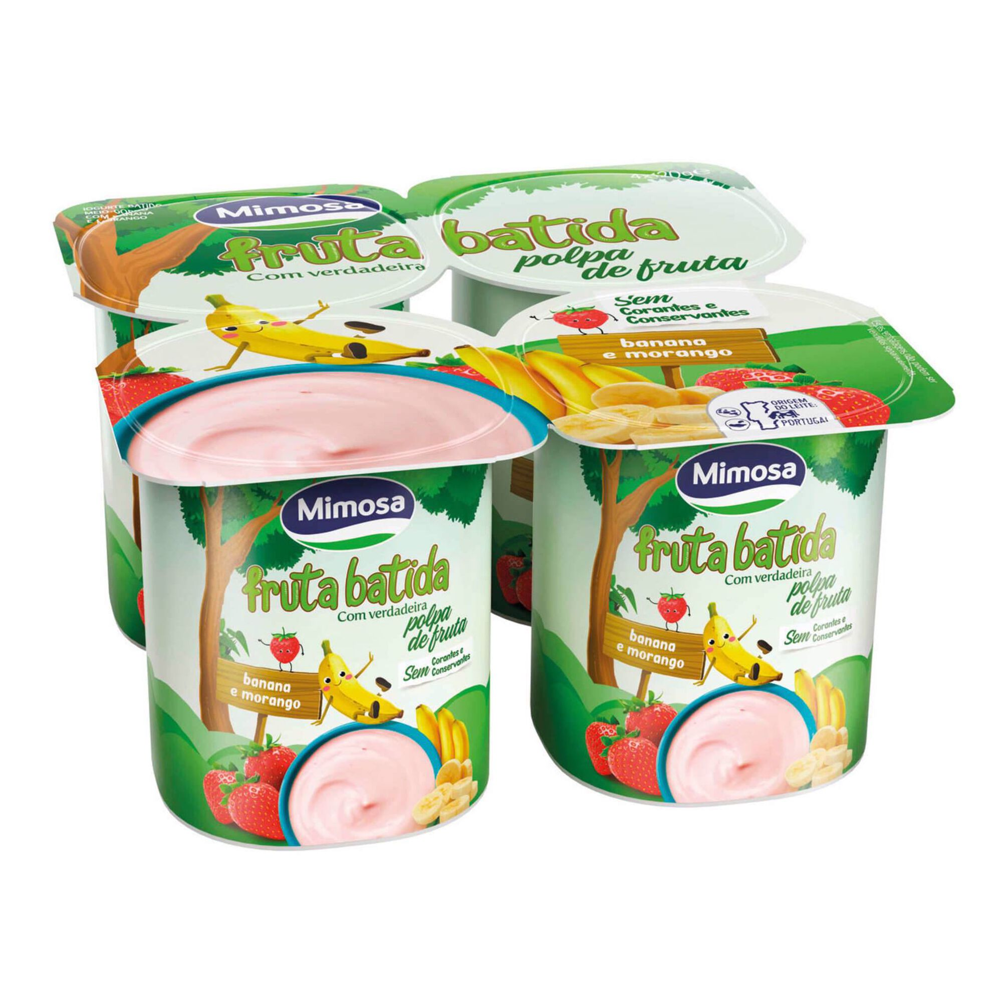 Iogurte Polpa Morango e Banana