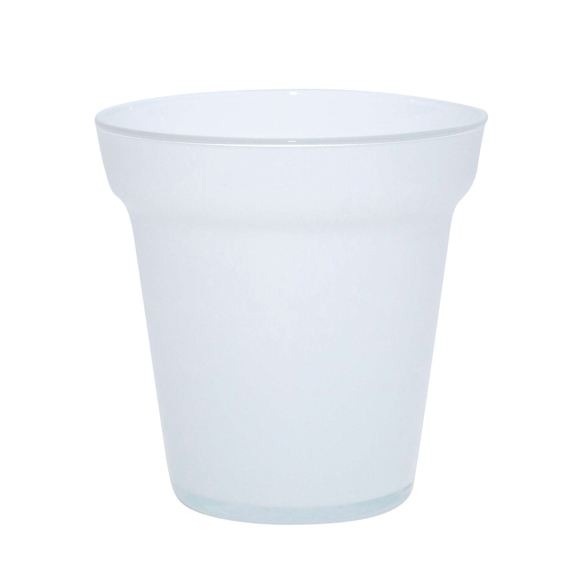 Vaso Redondo Vidro Tobago 27cm Branco