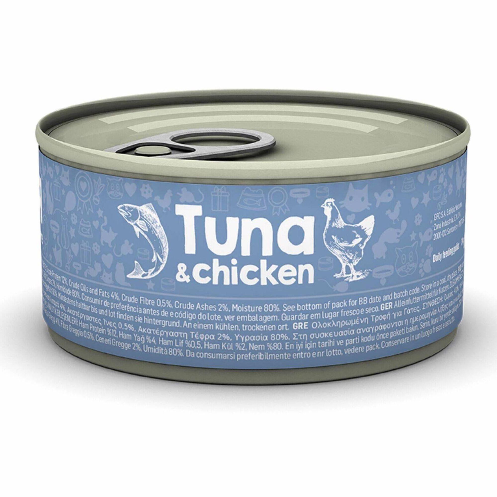 Comida Húmida para Gato Adulto Atum e Frango Lata