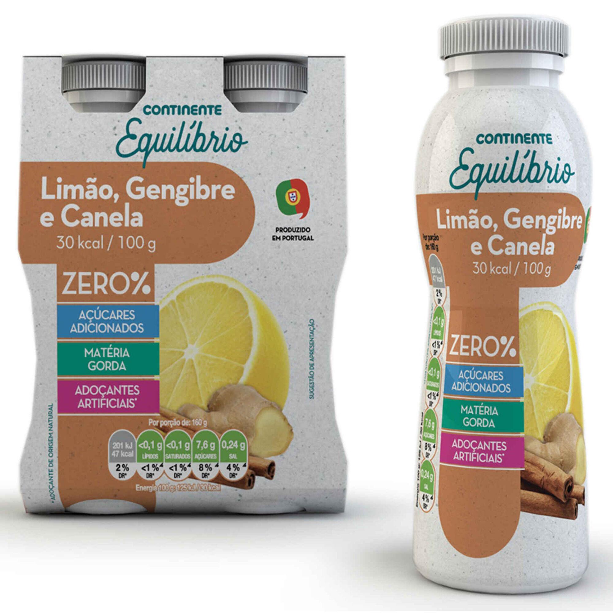 Iogurte Líquido Zero% Limão, Gengibre e Canela