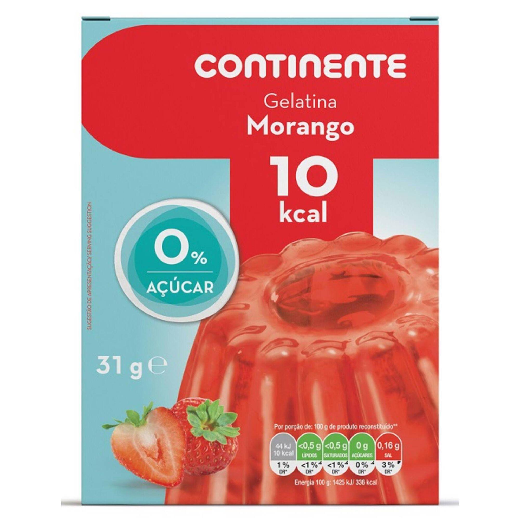 Gelatina Morango 0% Açúcar