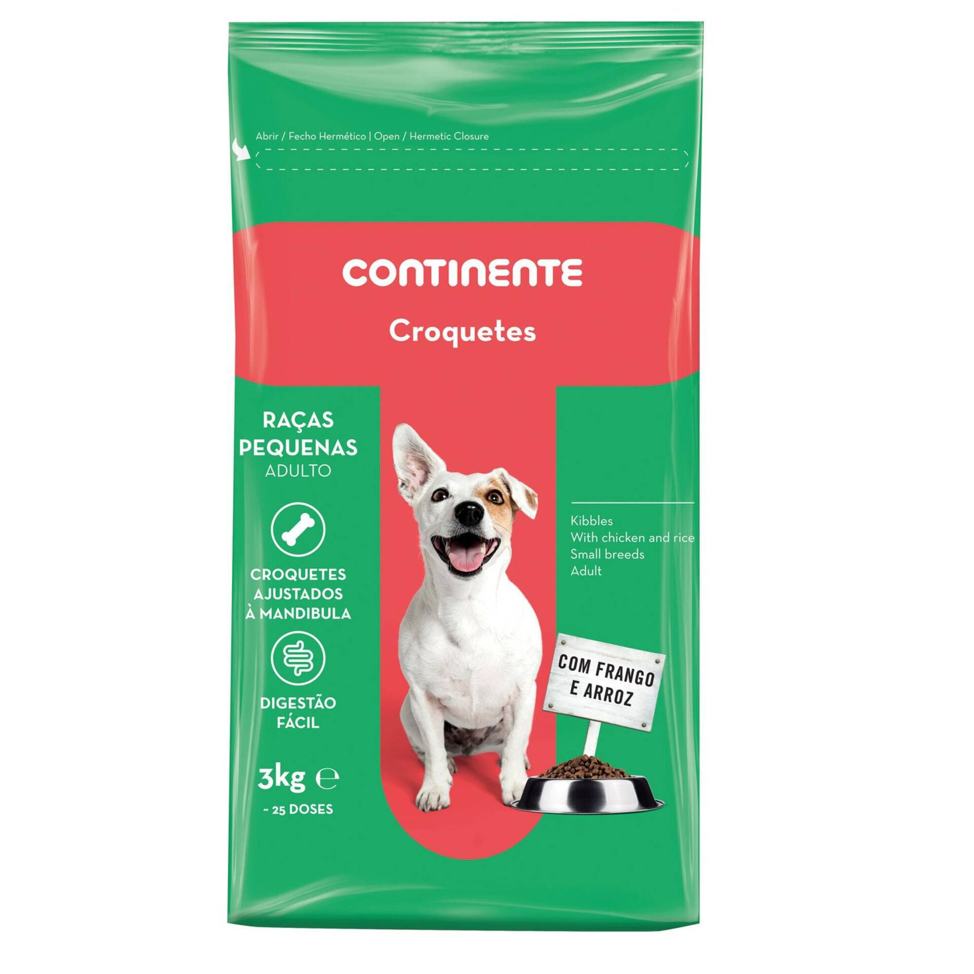 Ração para Cão Adulto Croquetes Raças Pequenas Frango e Arroz