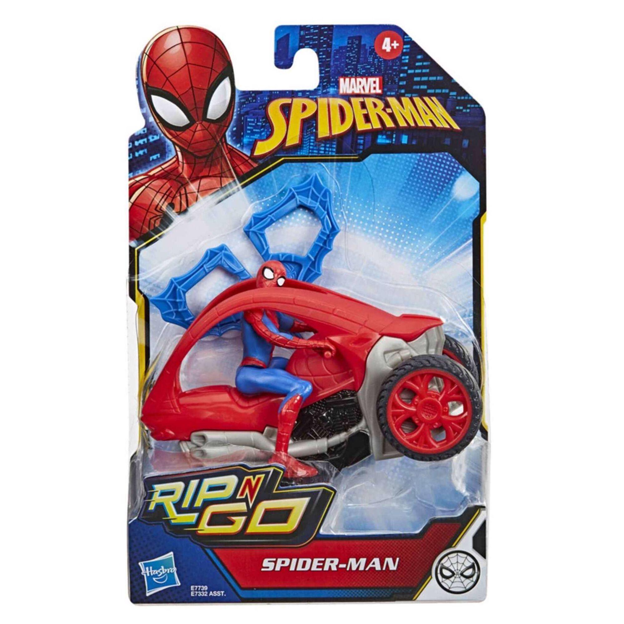 Figura Spiderman e Veículo 15cm (vários modelos)