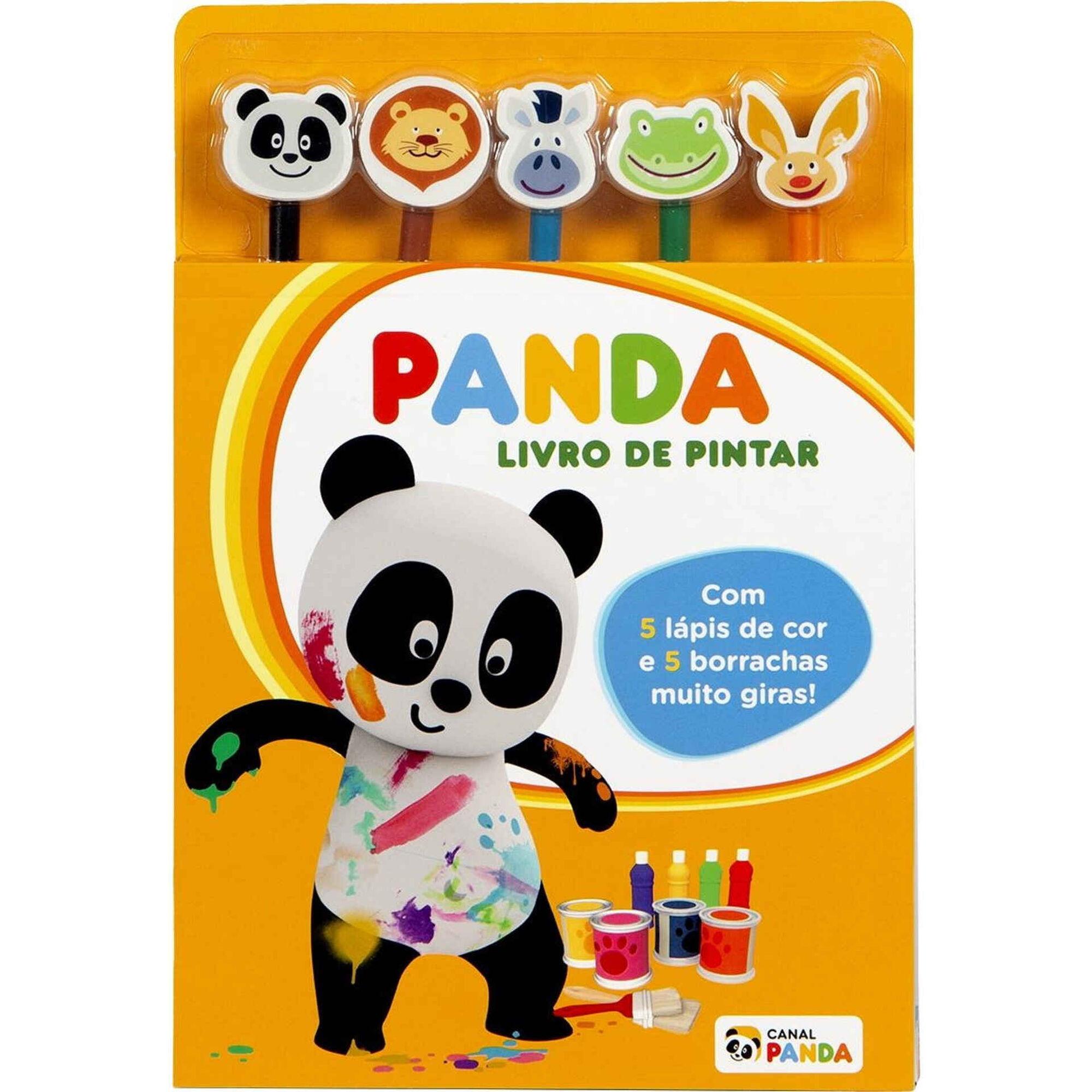 Panda - Livro de Pintar com 5 Lápis