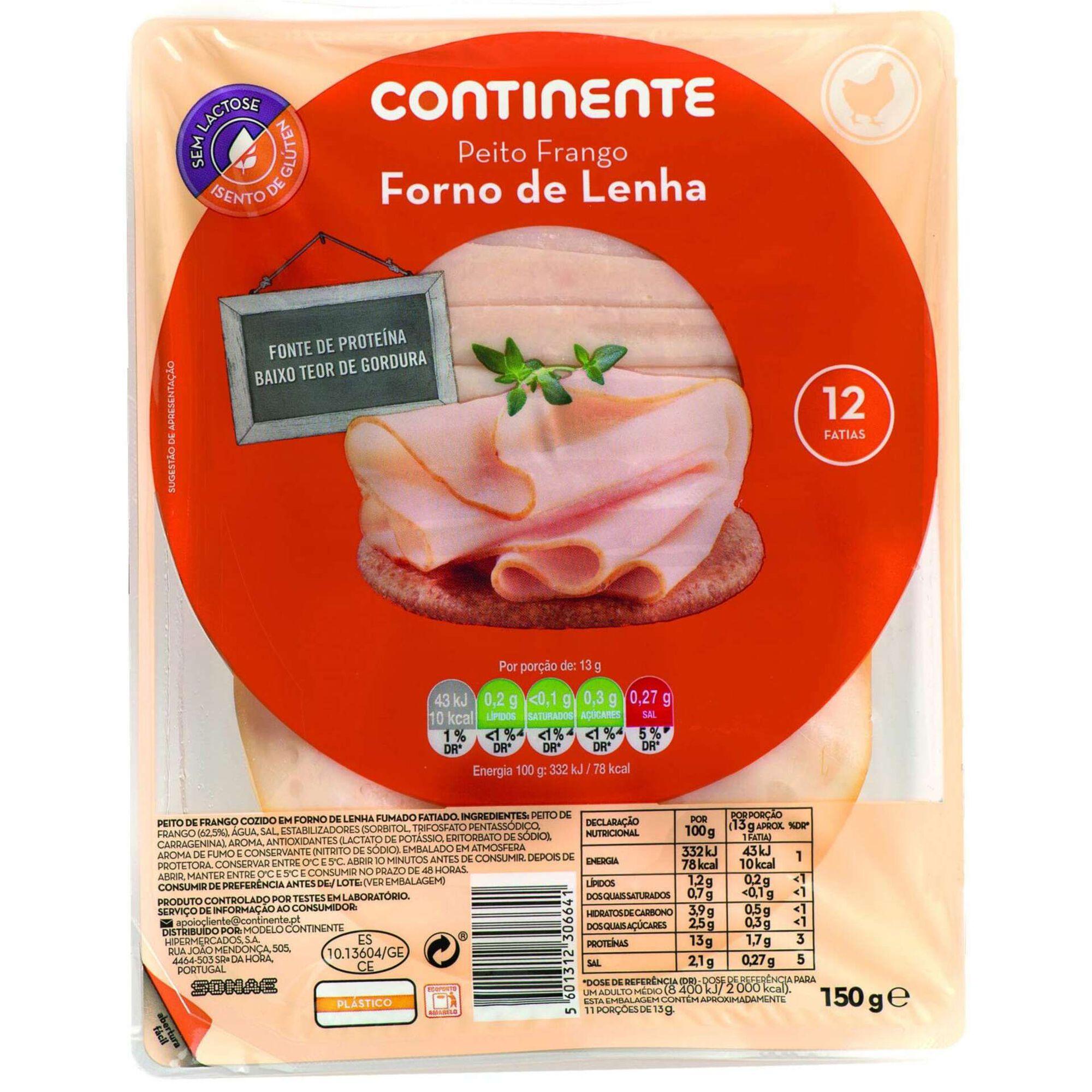 Fiambre Peito de Frango Forno a Lenha