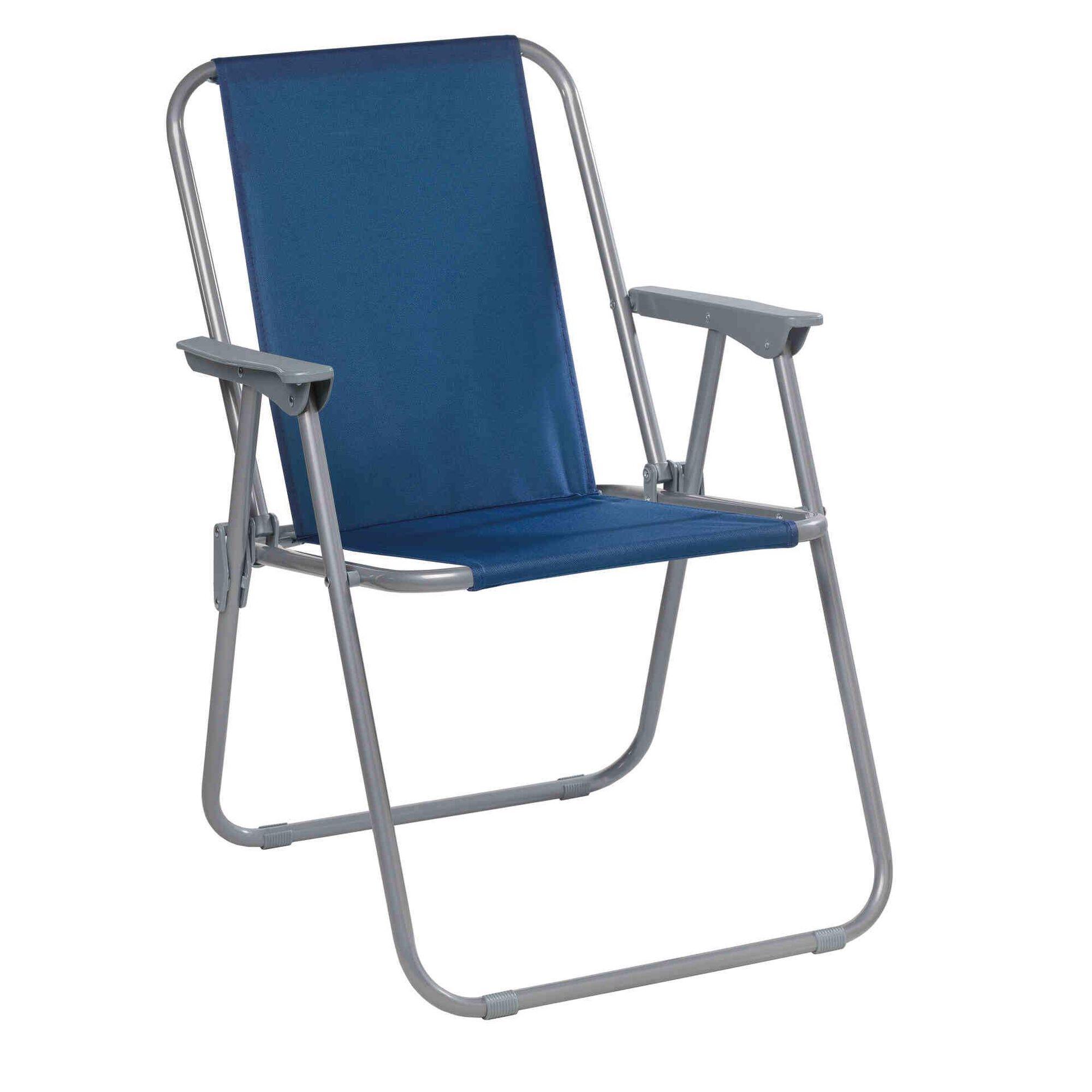 Cadeira Dobrável Riscas Azul Malibu