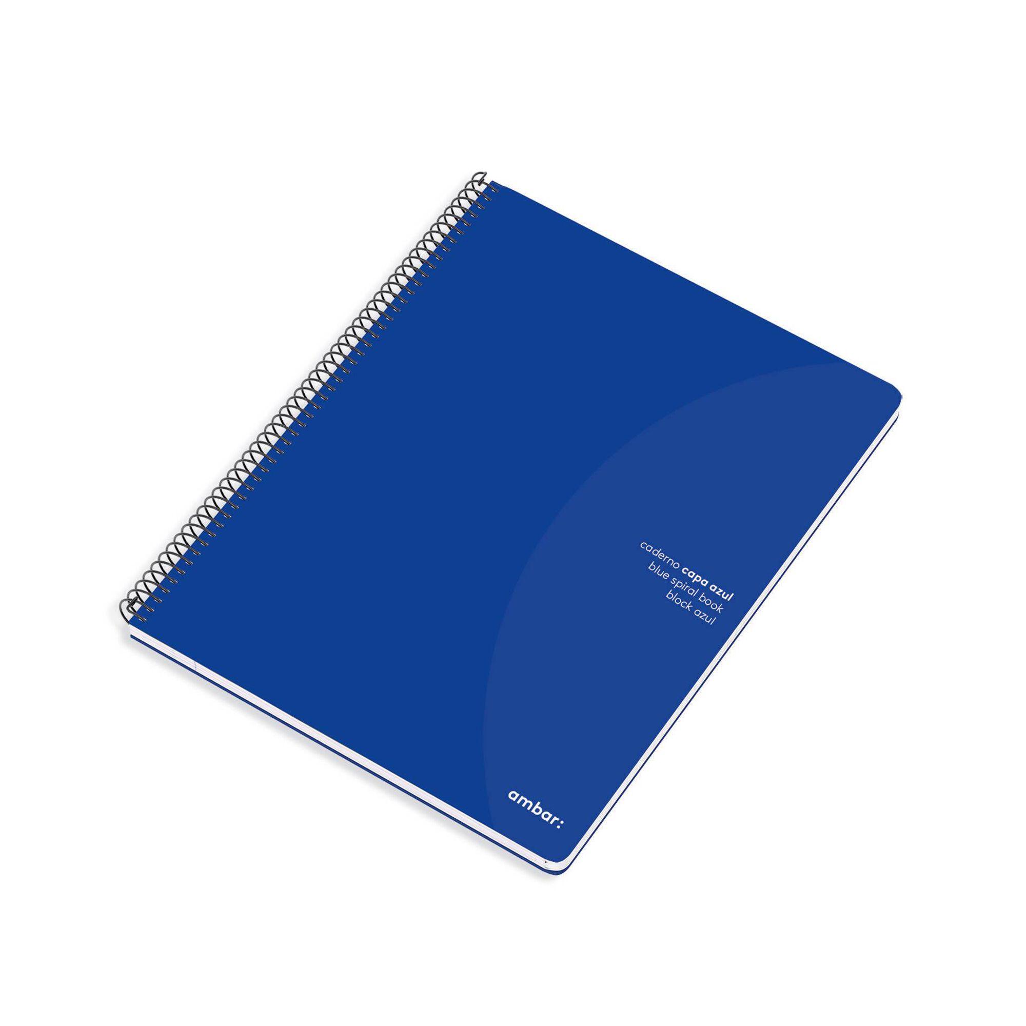 Caderno Espiral A4 Pautado Azul