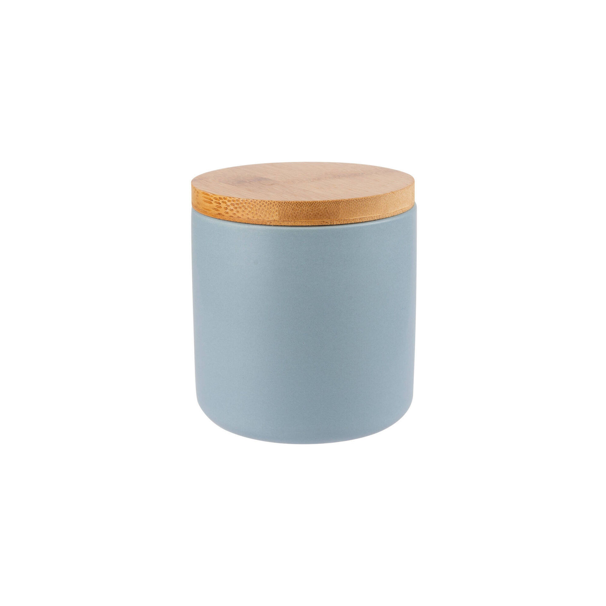 Porta Algodão Cerâmica e Bambu Pastel