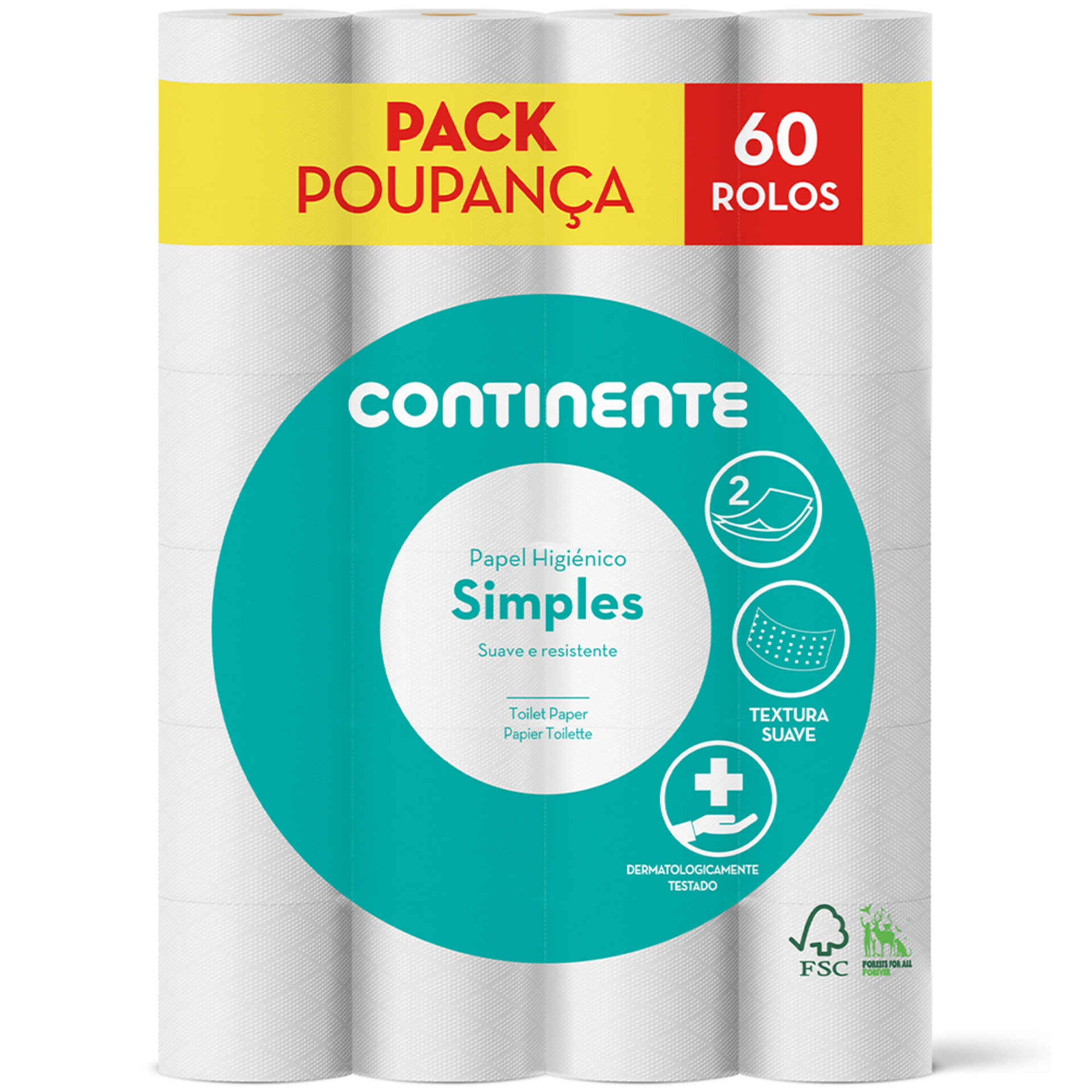 Papel Higiénico 2 Folhas Pack Poupança