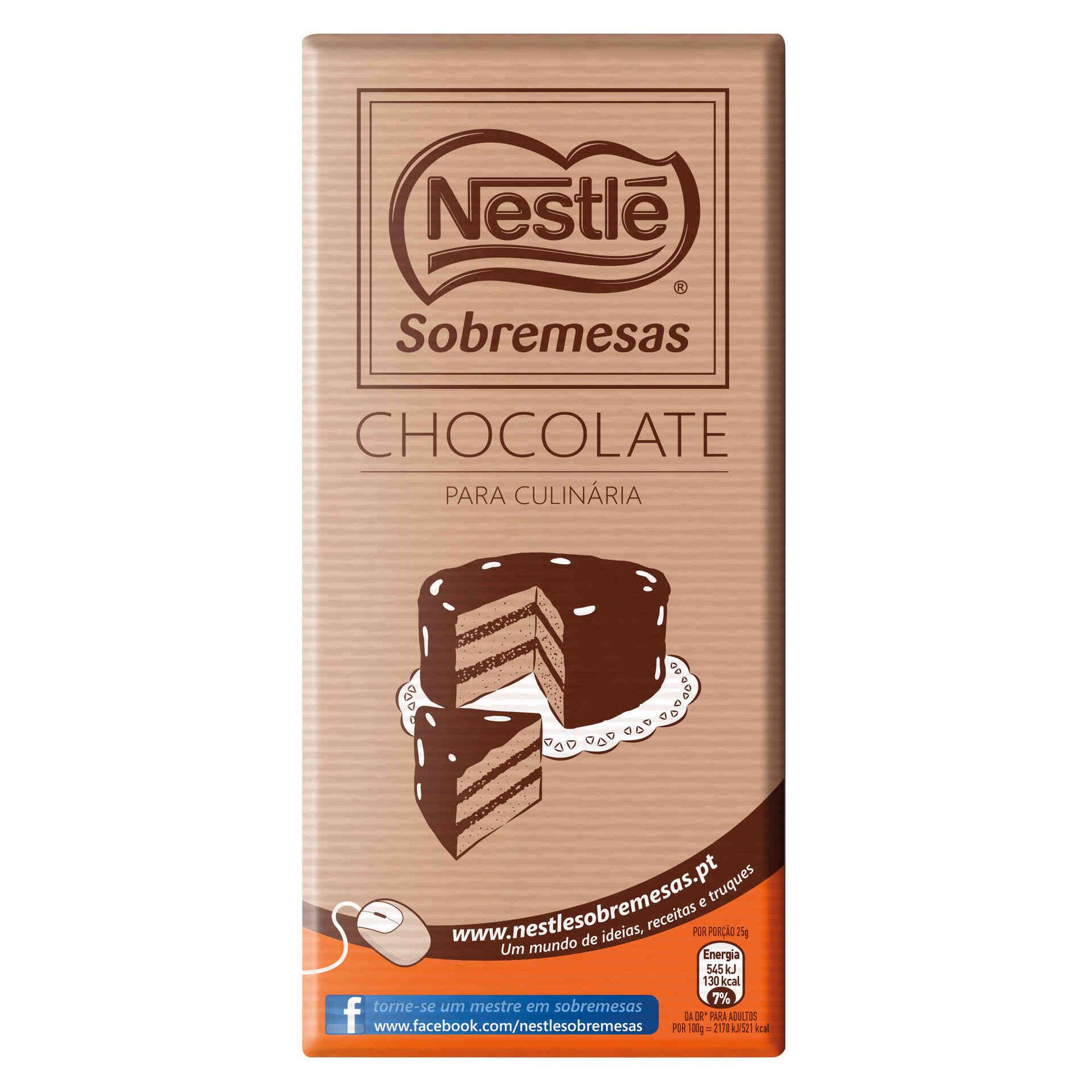 Tablete de Chocolate Culinária 44% Cacau