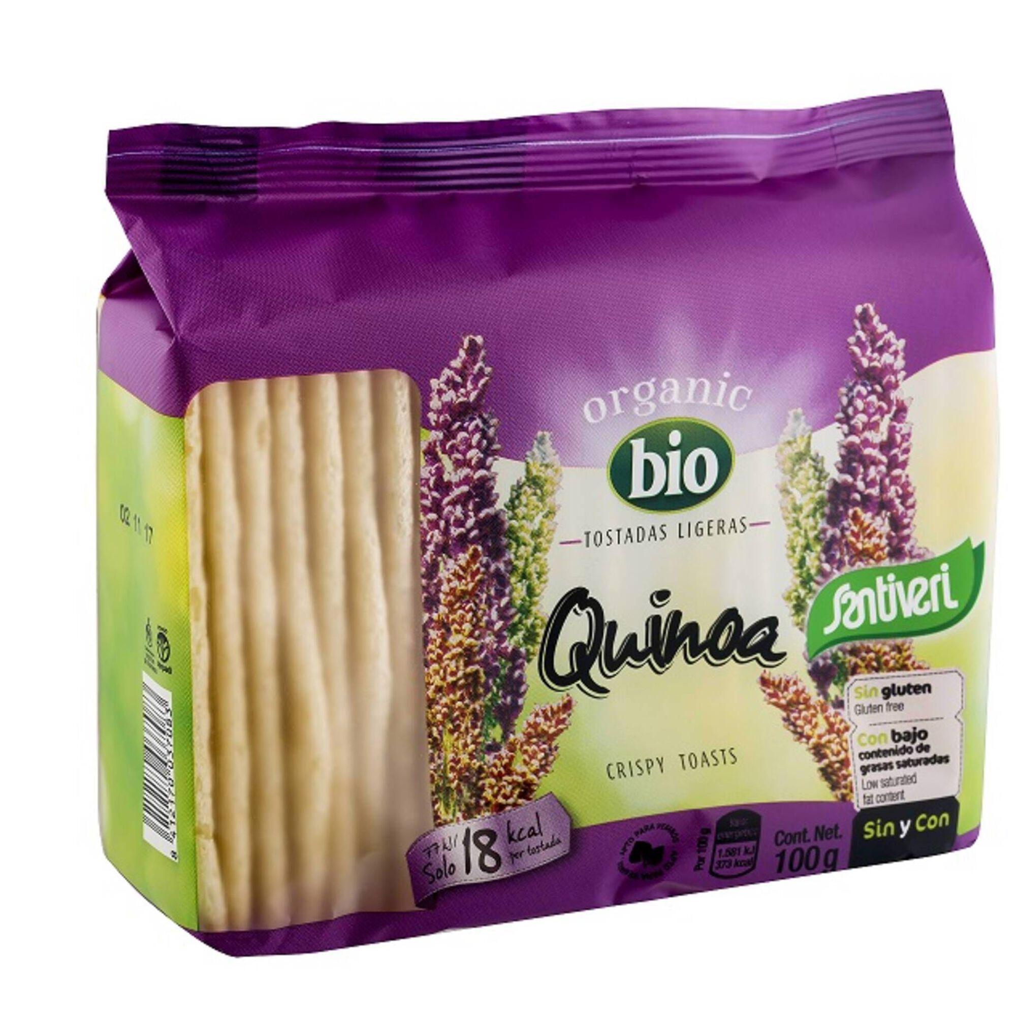 Tostas Ligeiras com Quinoa sem Glúten Biológico