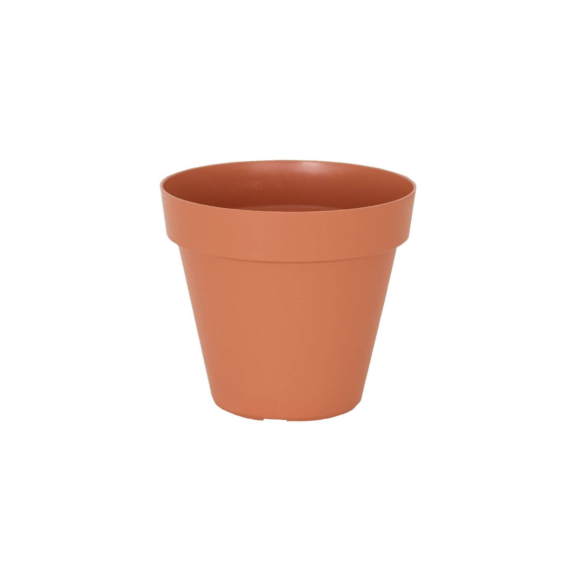 Vaso Redondo Plástico 25cm Terracota