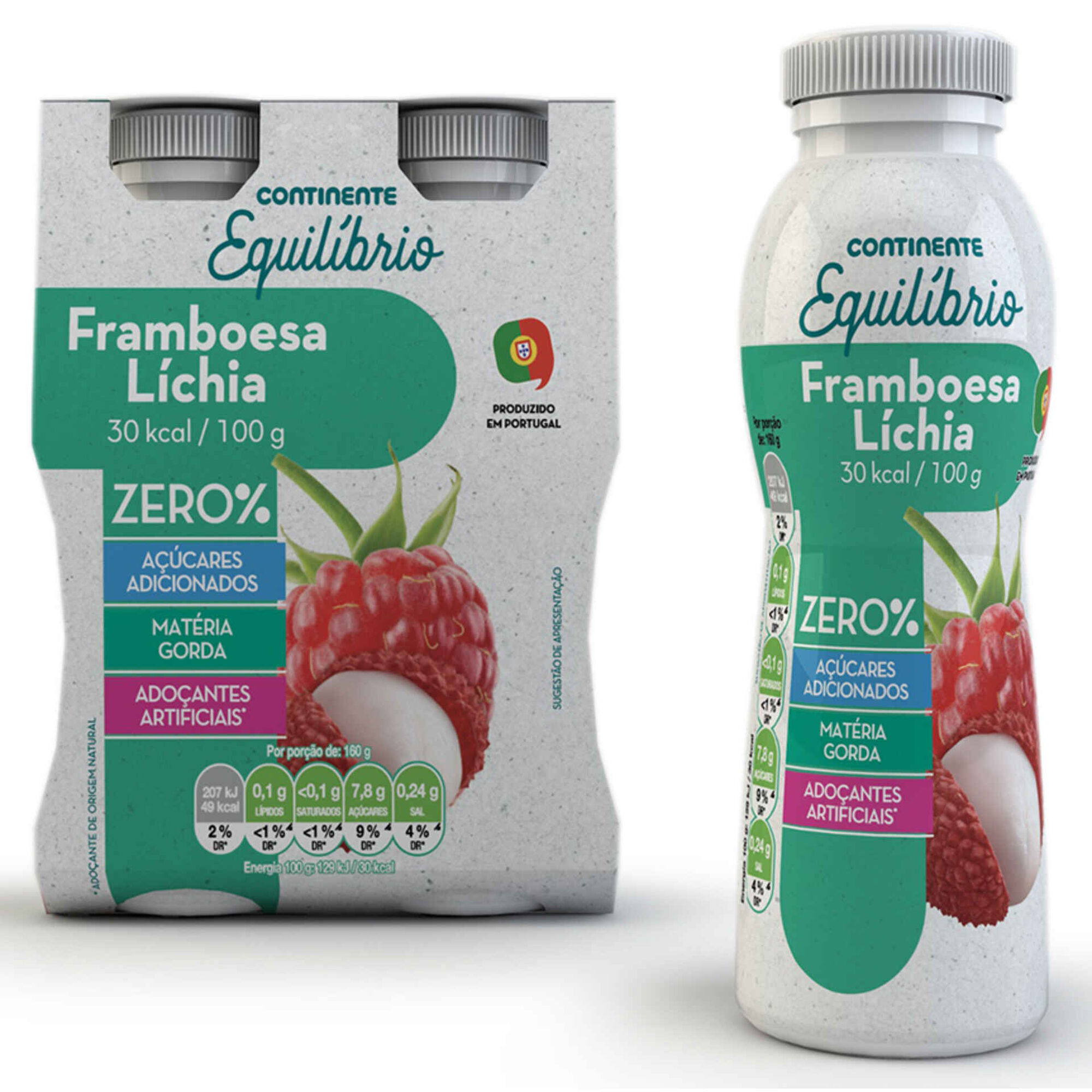 Iogurte Líquido Zero% Framboesa e Líchia