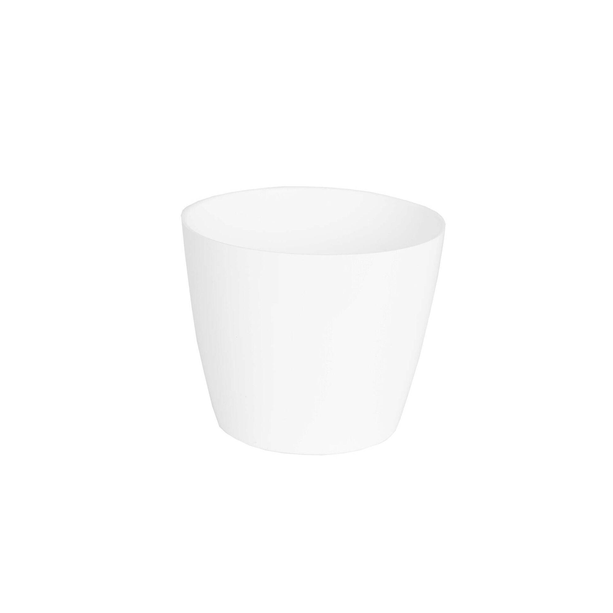 Vaso Redondo Plástico 8cm Branco