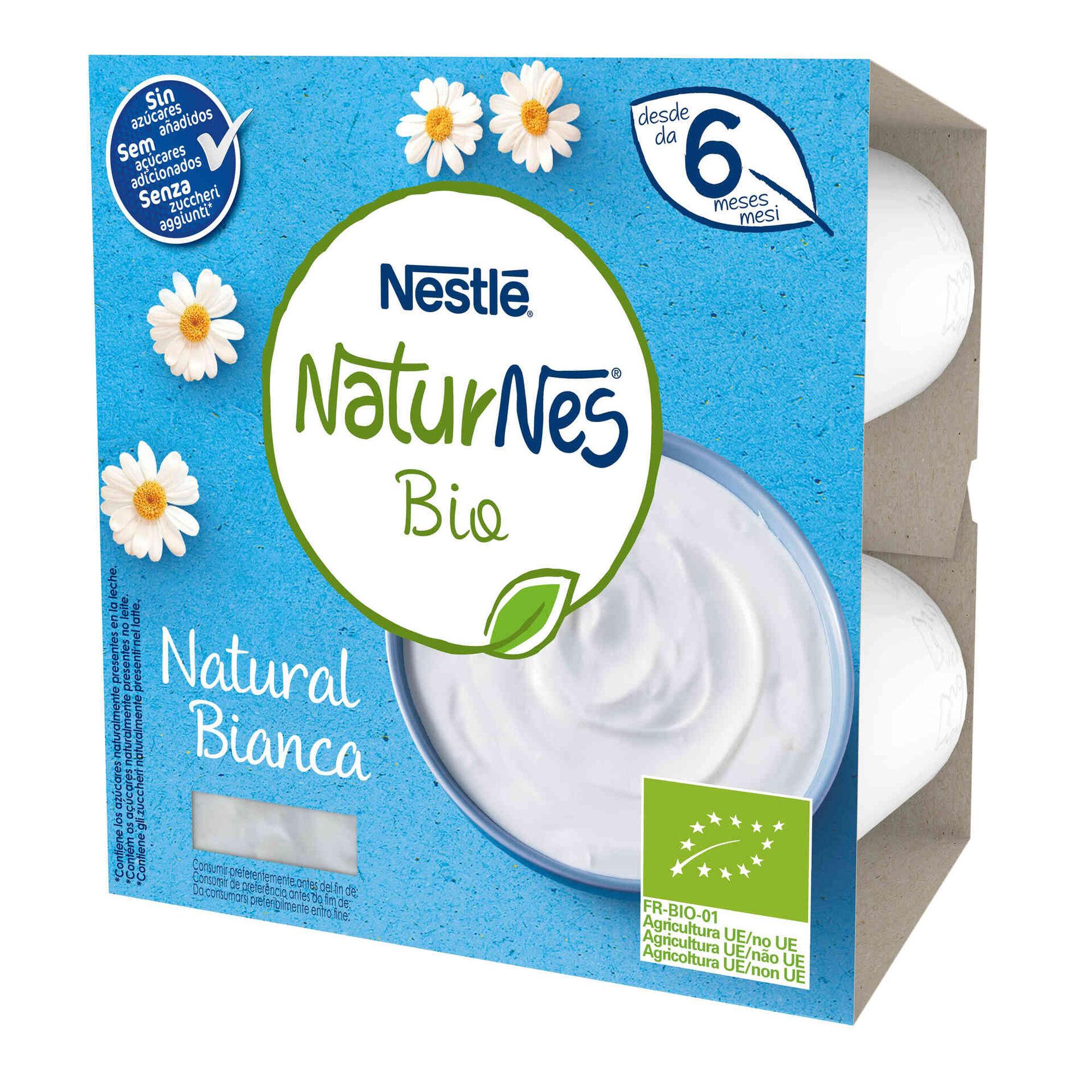 Alimento Lácteo Natural sem Açúcar Naturnes Bio +6 Meses
