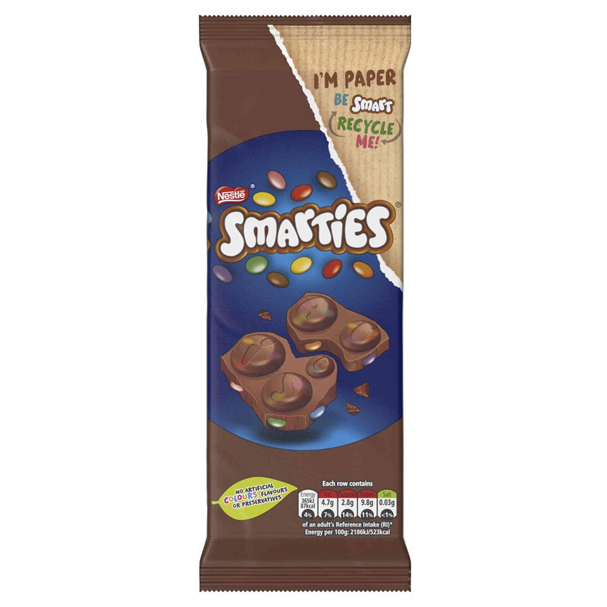 Tablete de Chocolate de Leite Smarties