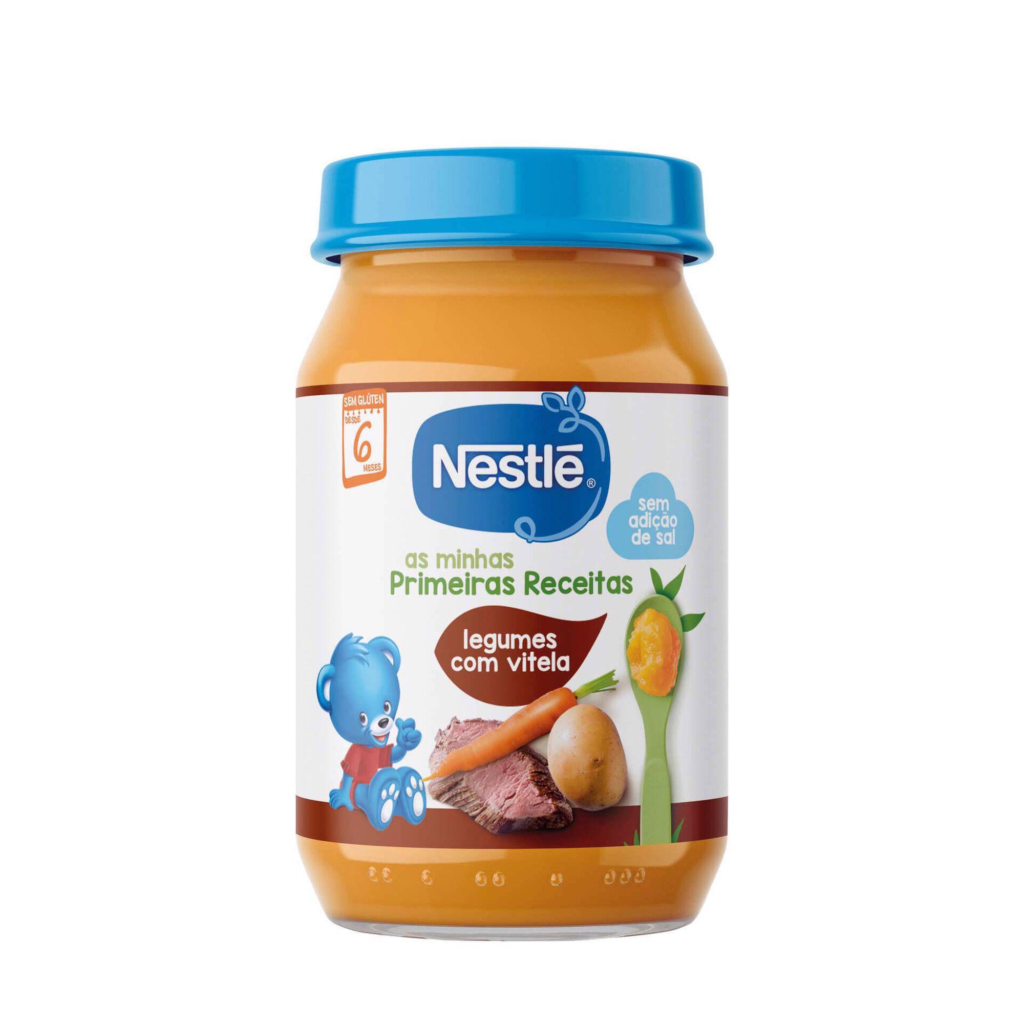 Refeição para Bebé Legumes com Vitela sem Glúten +6 Meses