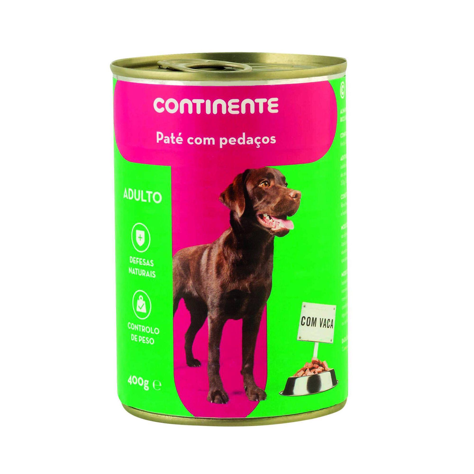 Comida Húmida para Cão Adulto Patê com Pedaços Vaca Lata