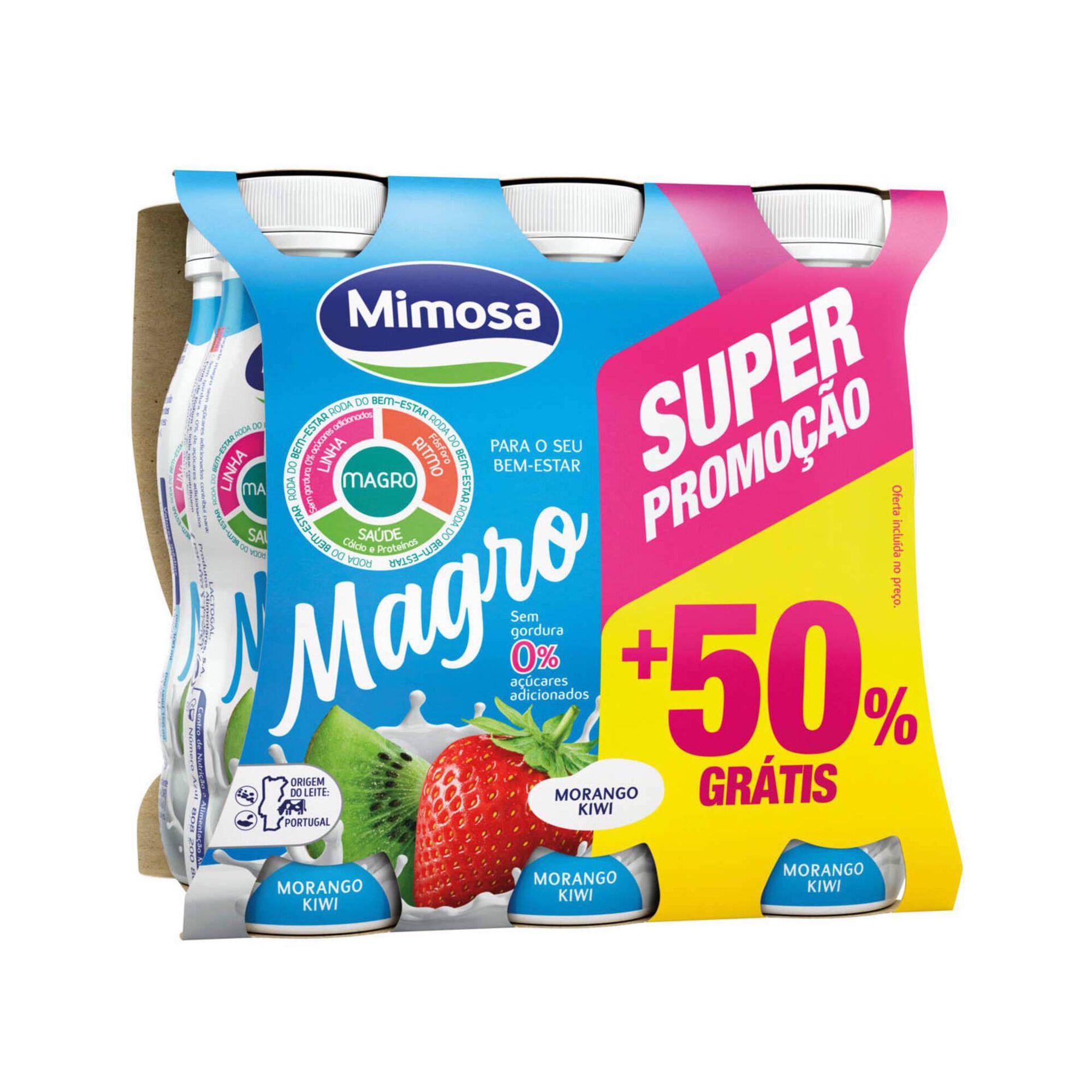 Iogurte Líquido Magro Morango e Kiwi