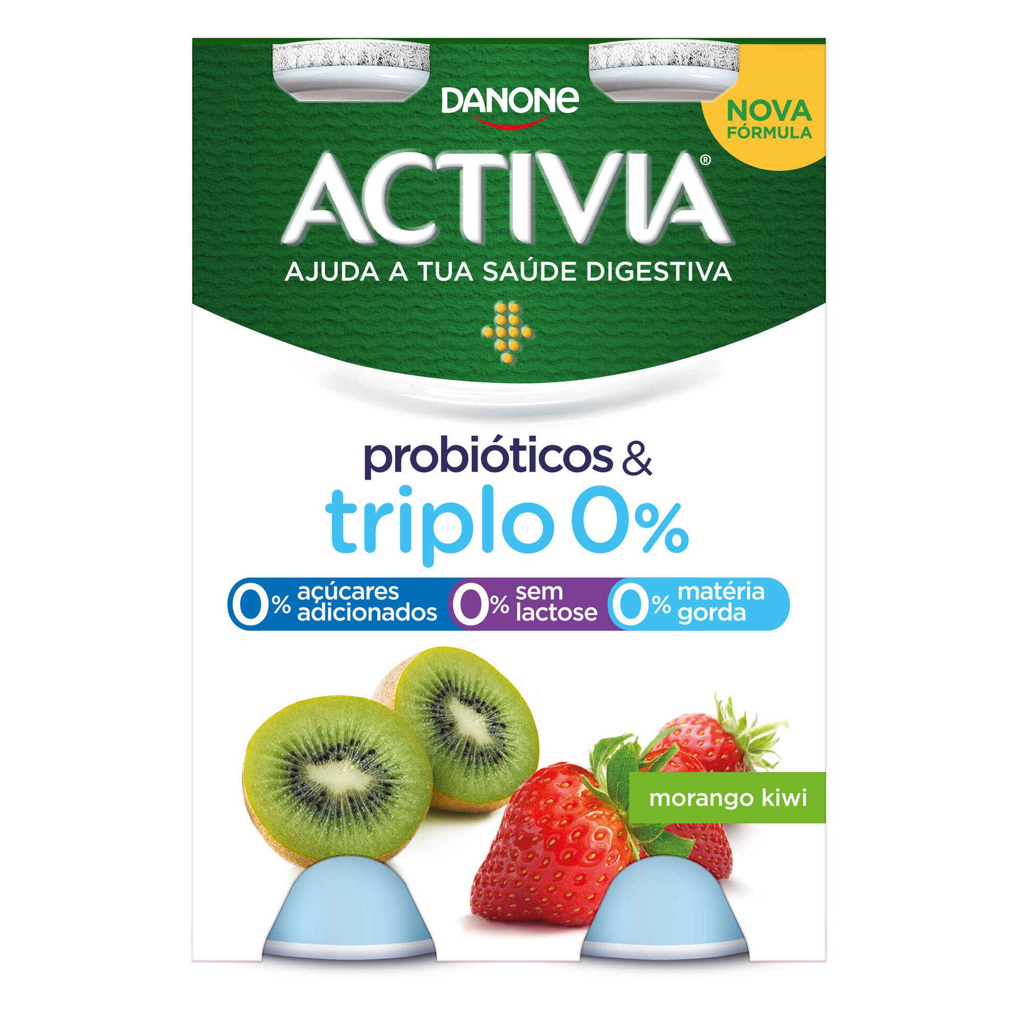 Iogurte Líquido Bifidus Magro Probióticos Morango e Kiwi Activia
